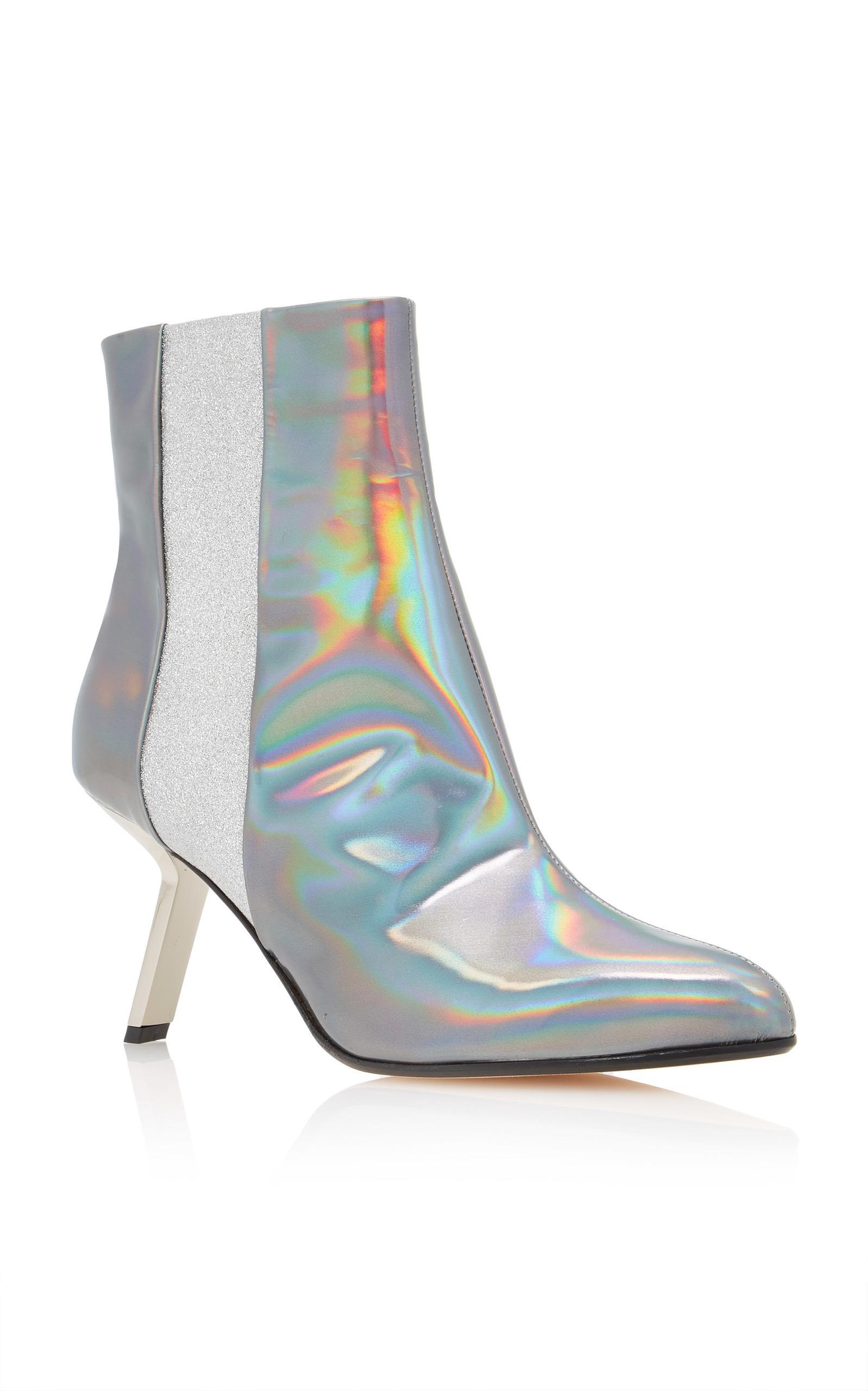 Alchimia Di Ballin Leather Hedra Hologram Bootie in Metallic