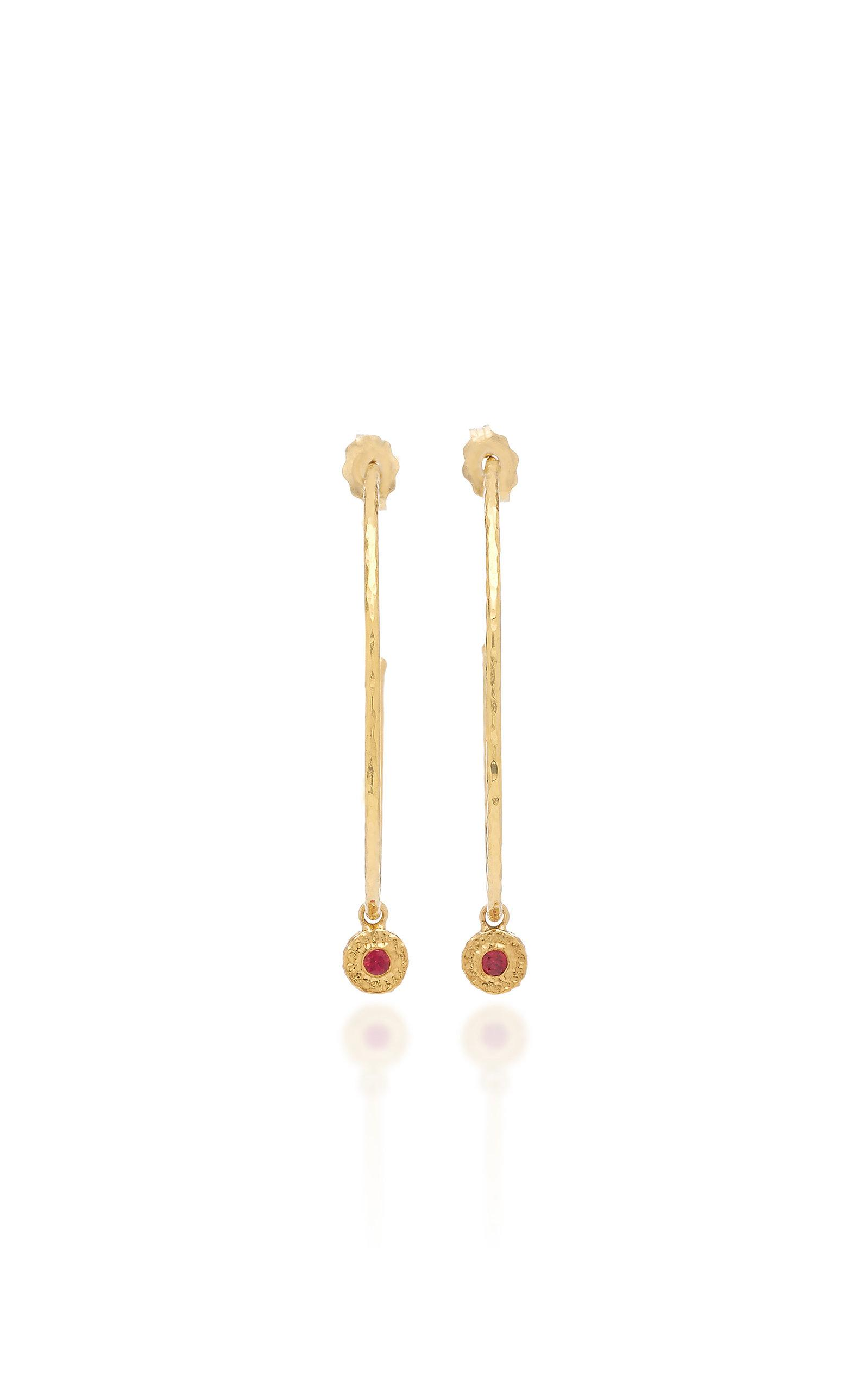 Nesting Gem Tourmaline and 18K Gold Drop Earrings Octavia Elizabeth DFeC0bz2