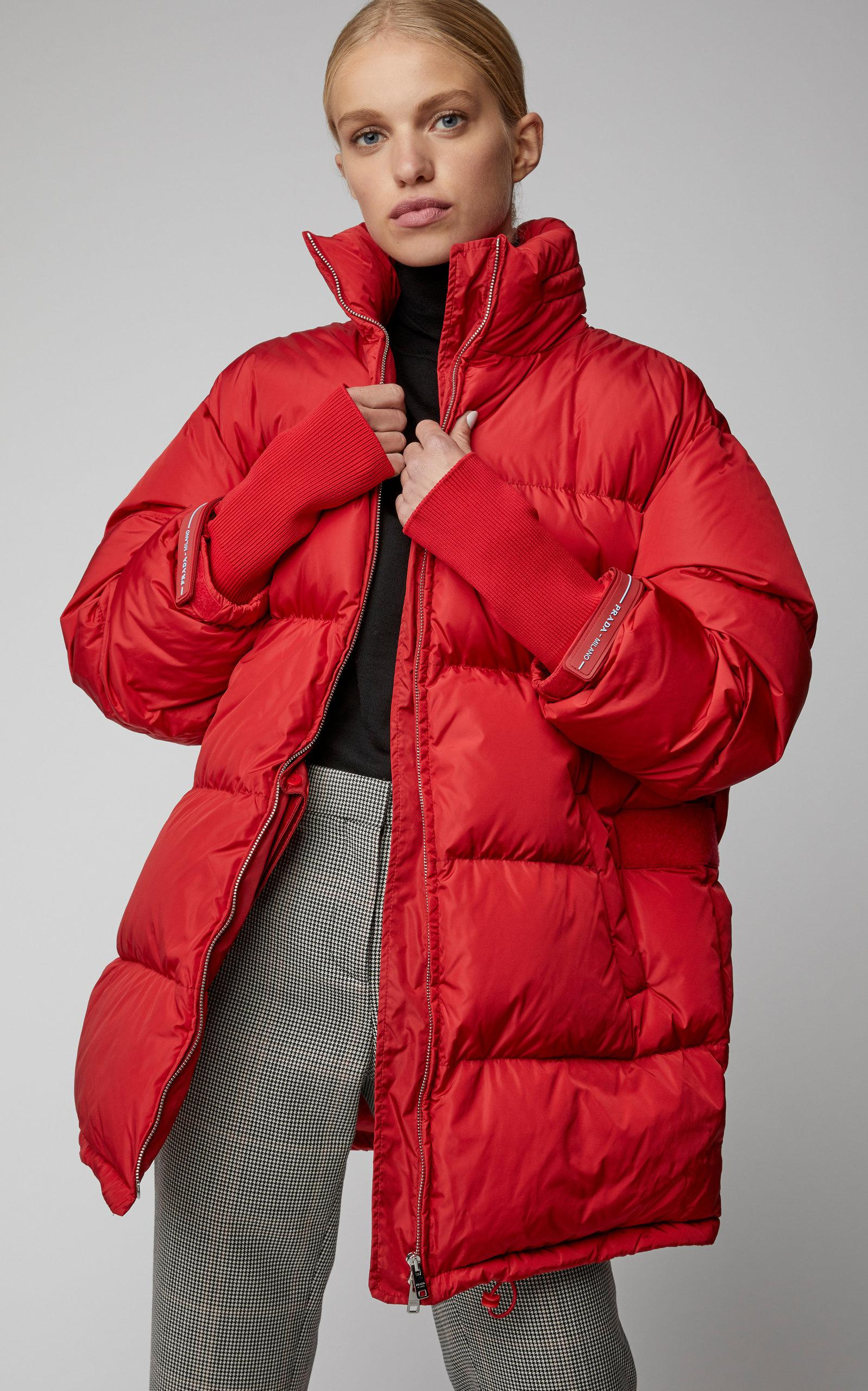 cfc2c4c5f Women's Red Quilted Shell Puffer Coat