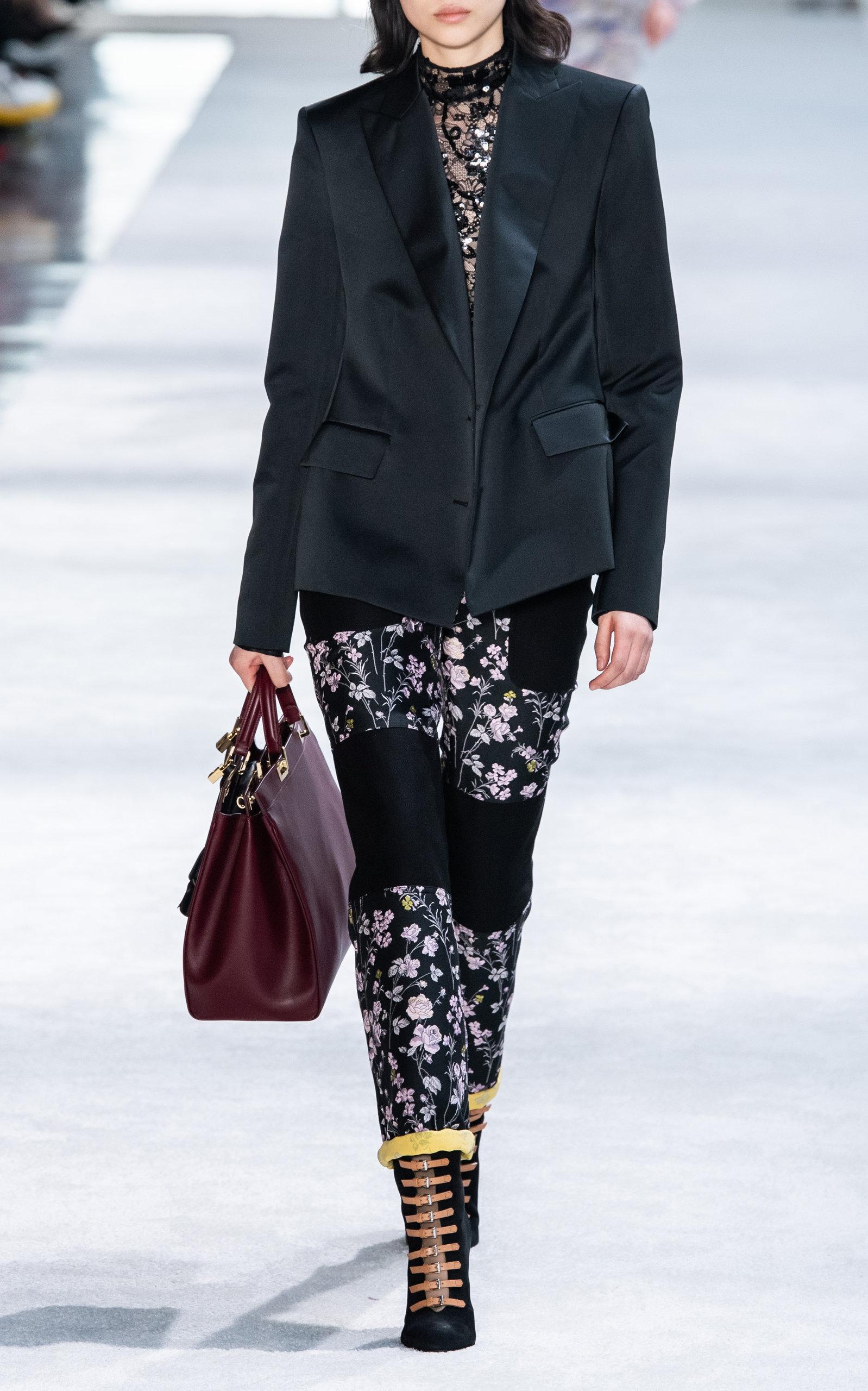 17c8b2d5cef3 Lyst - Giambattista Valli Floral-paneled Straight-leg Pants in Black