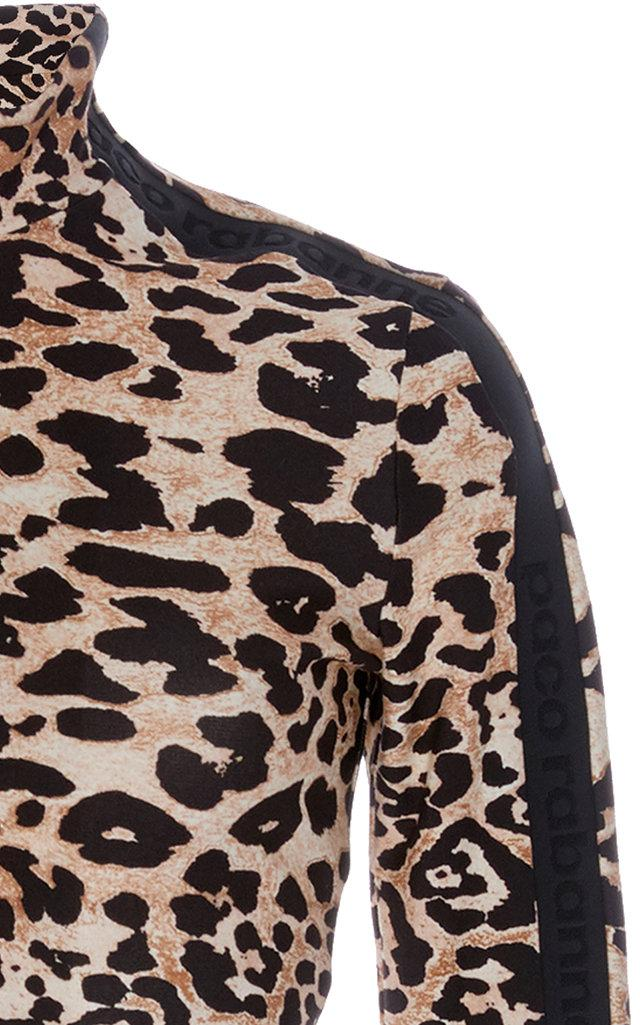 Paco Rabanne Synthetic Animal Print Crop Top