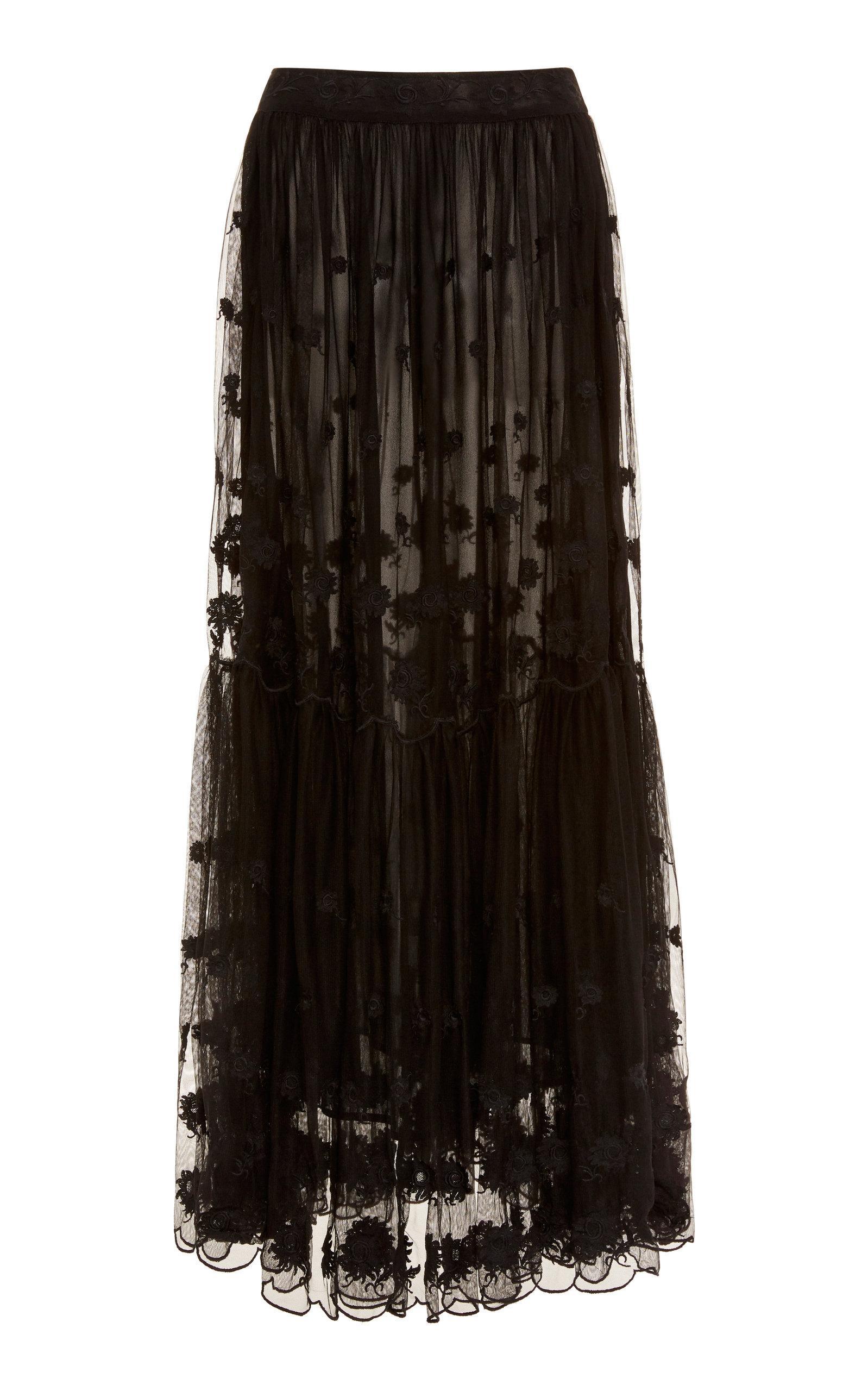 bce6f78155 Ulla Johnson Abelle Maxi Skirt in Black - Lyst