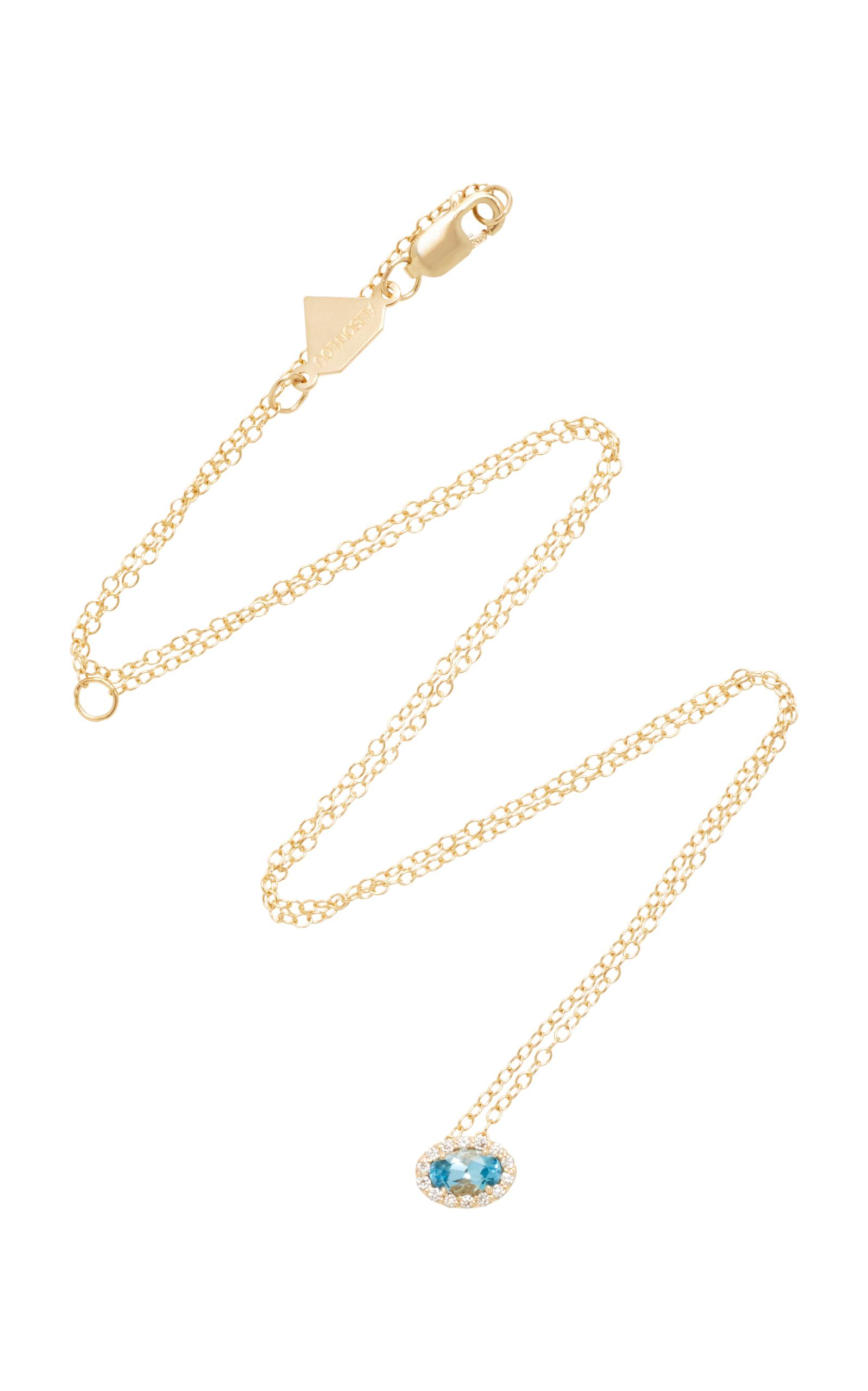 14K Gold Diamond Heart Necklace Alison Lou KwOeFaPFV
