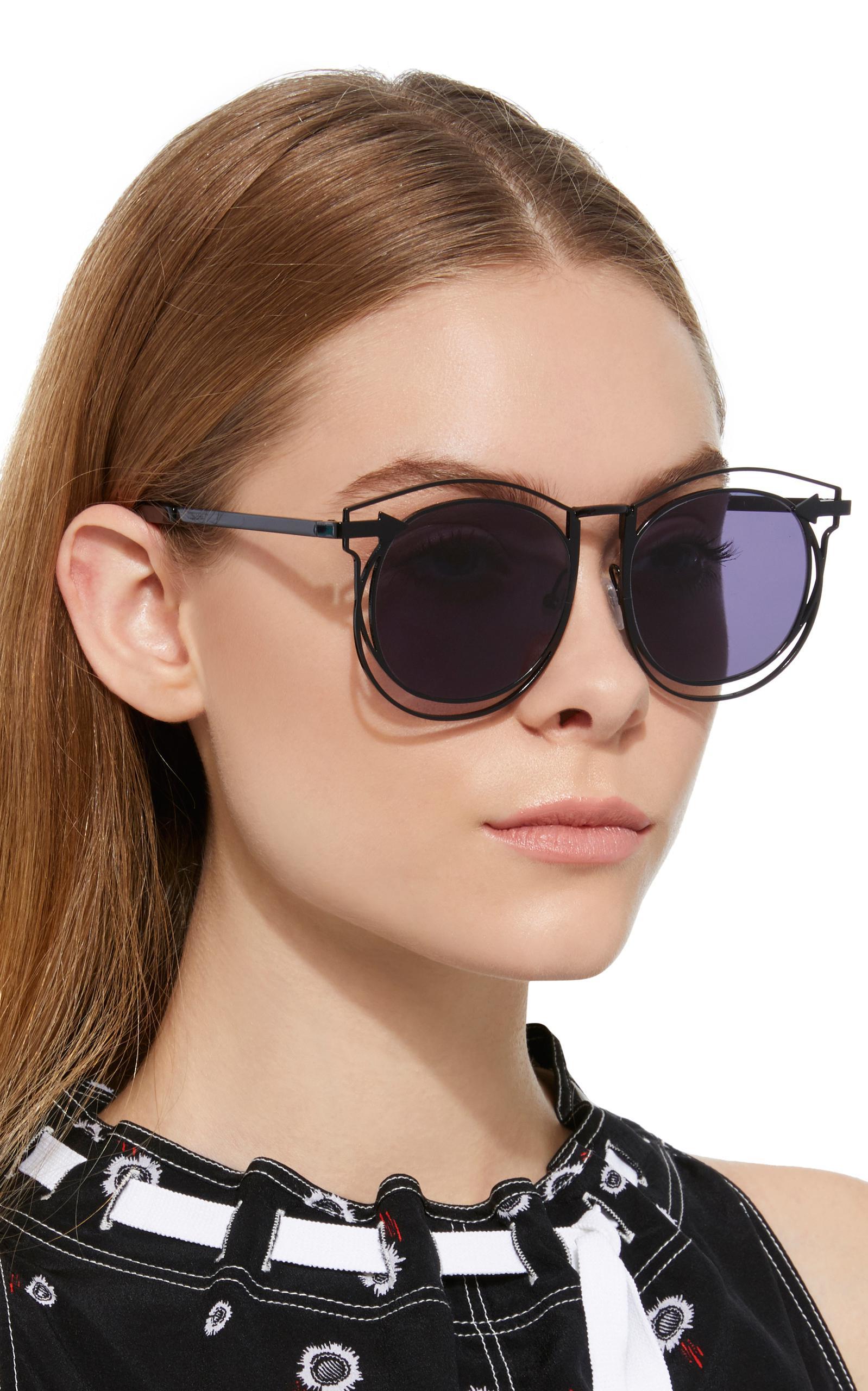 7f127134f99ff Karen Walker Superstar Simone Round-frame Acetate Sunglasses in ...