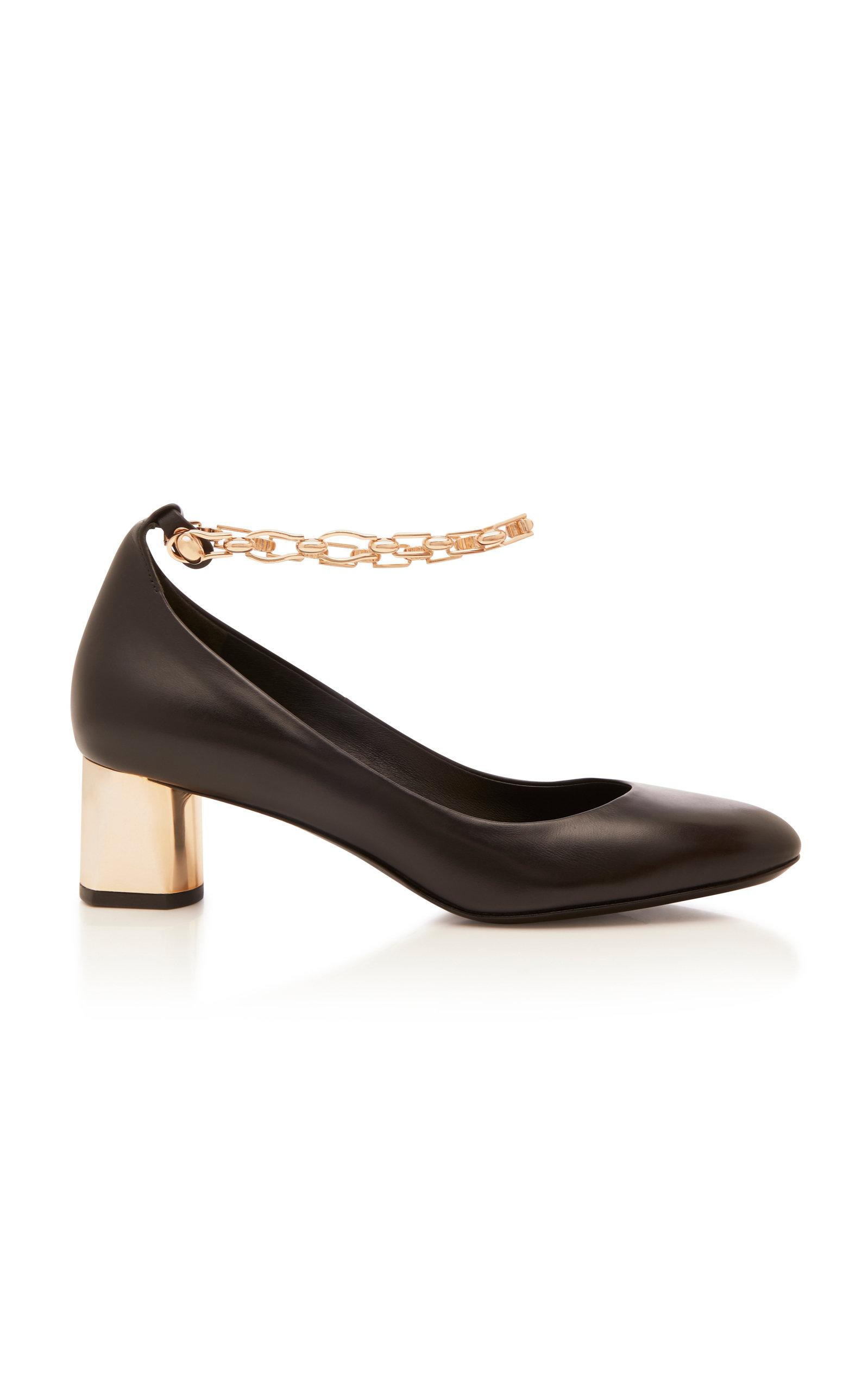 ff7308412ff5 Lyst - Stella Luna Stella Chain Pump in Black