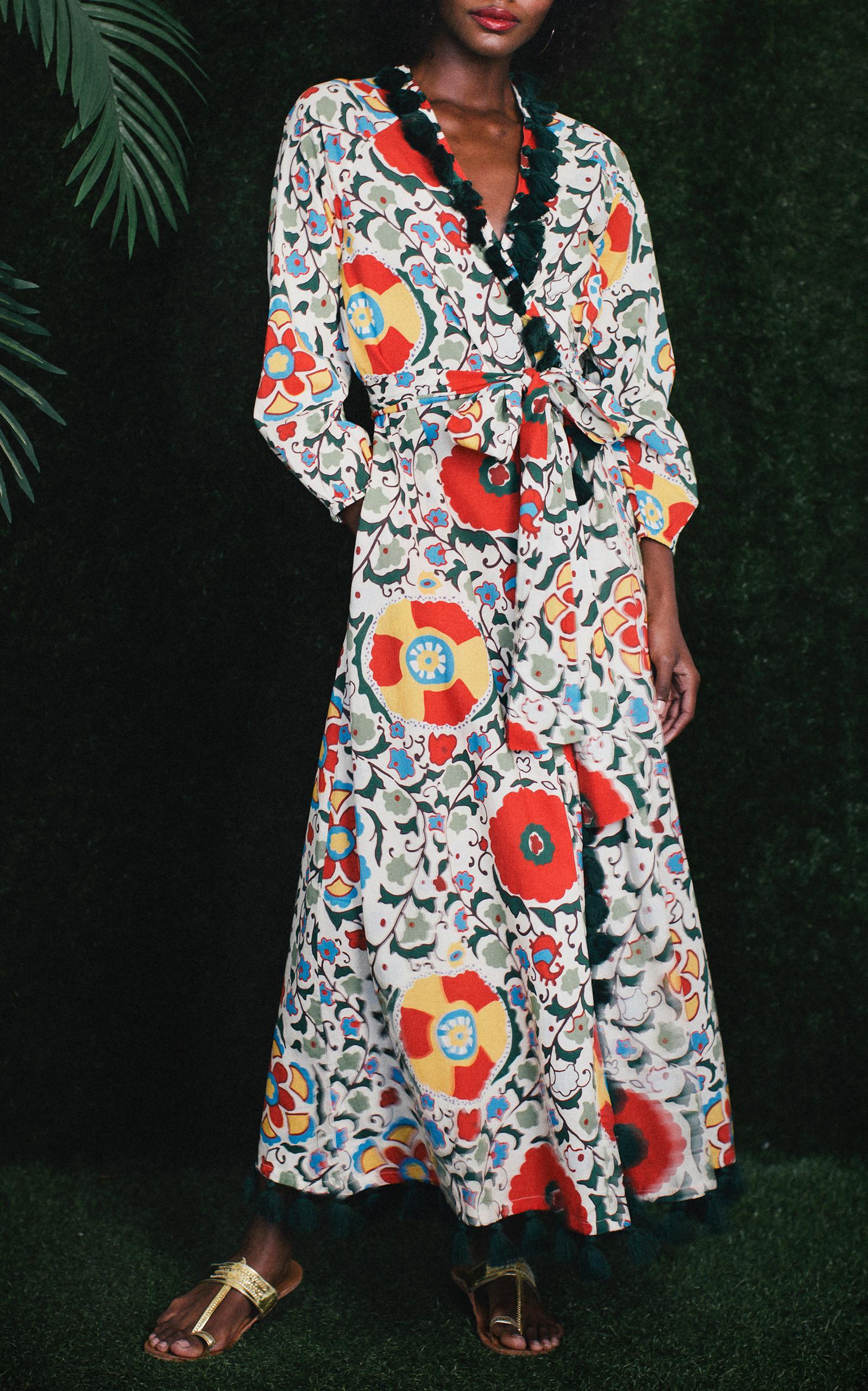 7a7384c5b9 Rhode Resort Lena Floral-print Cotton-voile Maxi Dress - Lyst