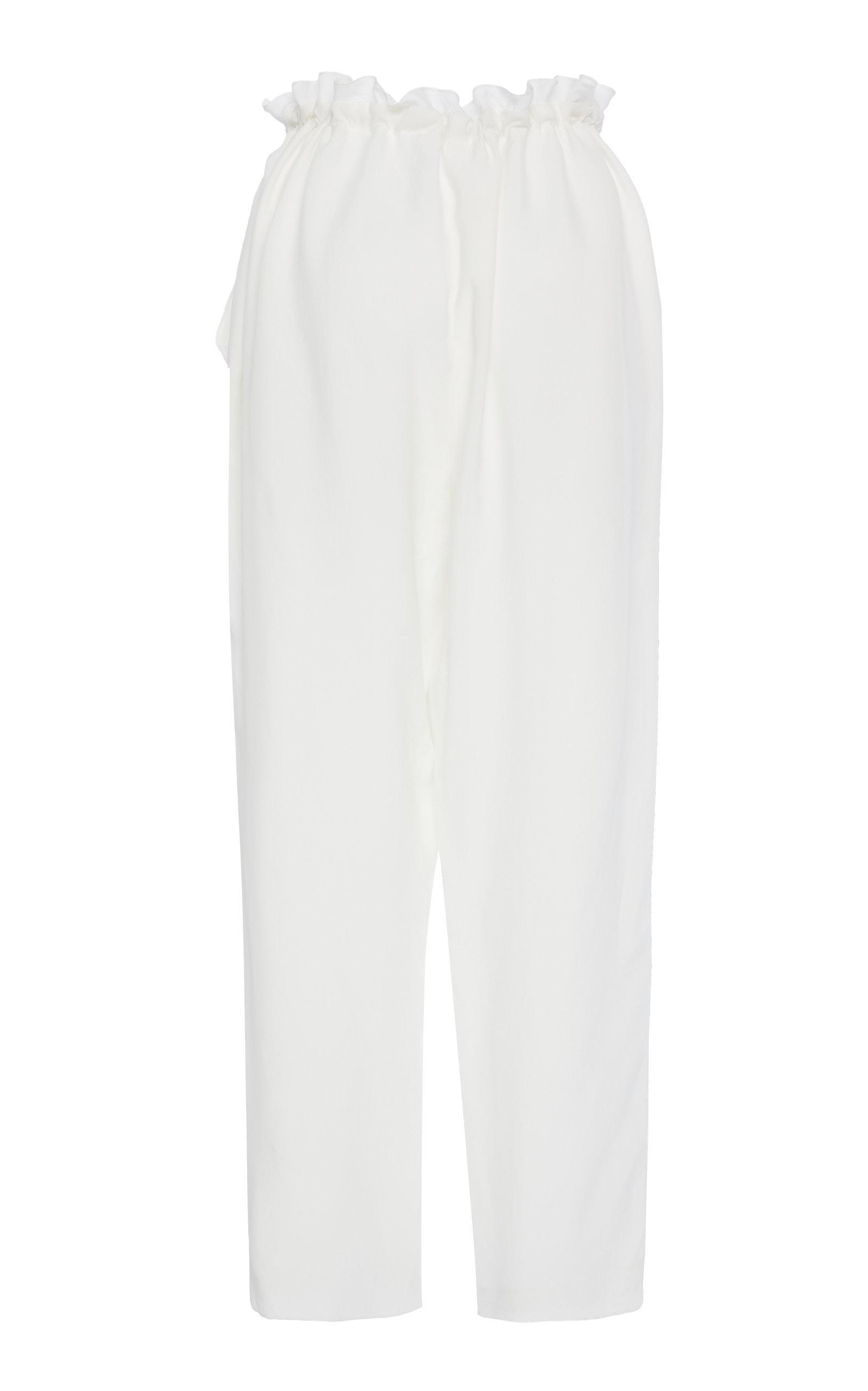 Léger Cupro Recadrée Pantalon Cordon De Serrage Sally Lapointe 7Ib4JXrvfl