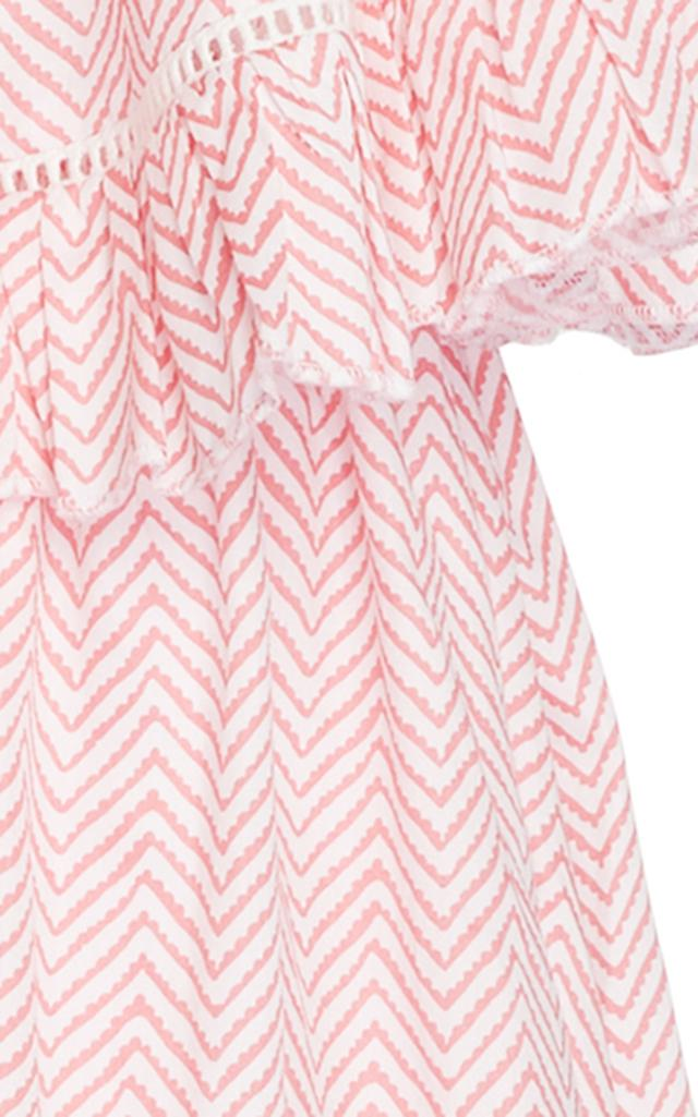 Gl Hrgel Cotton Chevron Print Dress in Red