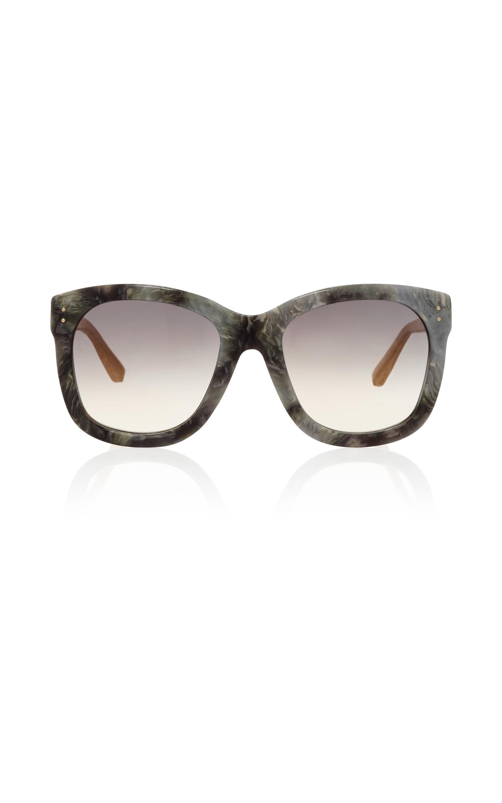 2638e519bf Lyst - Linda Farrow Grey Marble Sunglasses in Gray