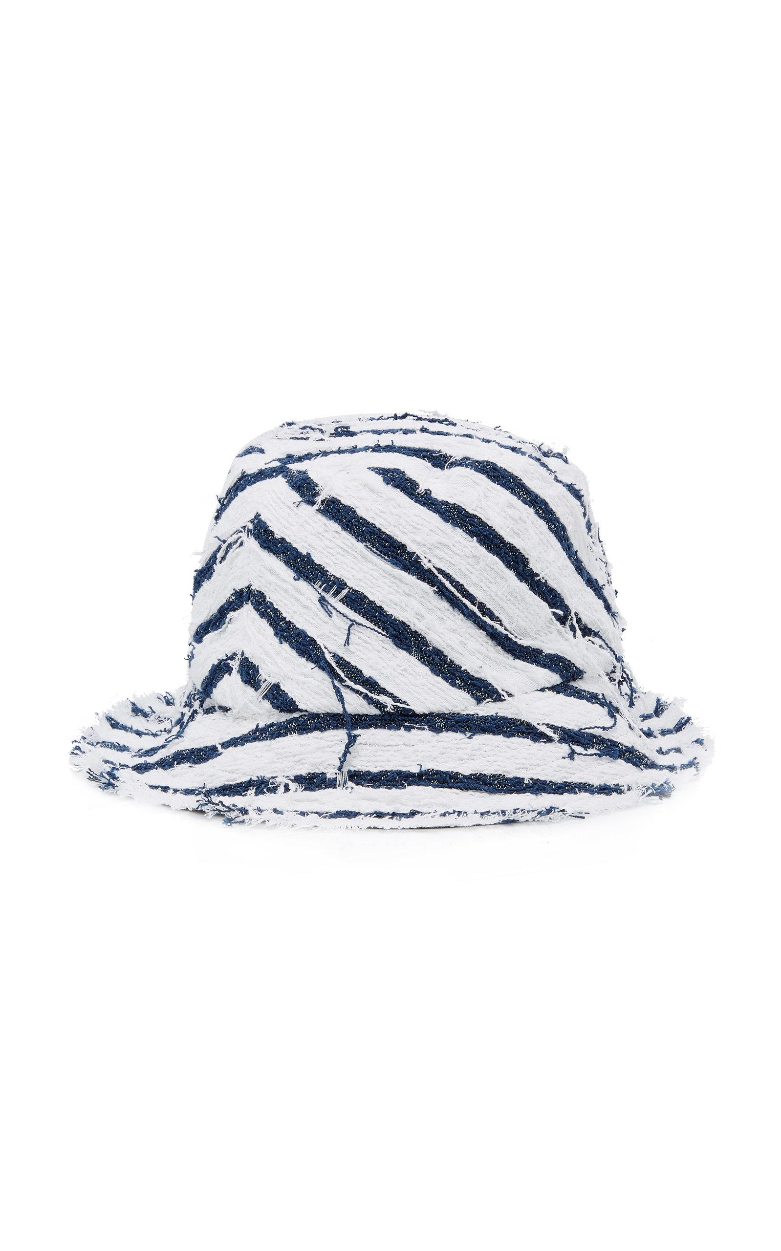 19175eb8d14adc Lyst - Eugenia Kim 'toby' Stripe Tweed Bucket Hat in Blue - Save 6%