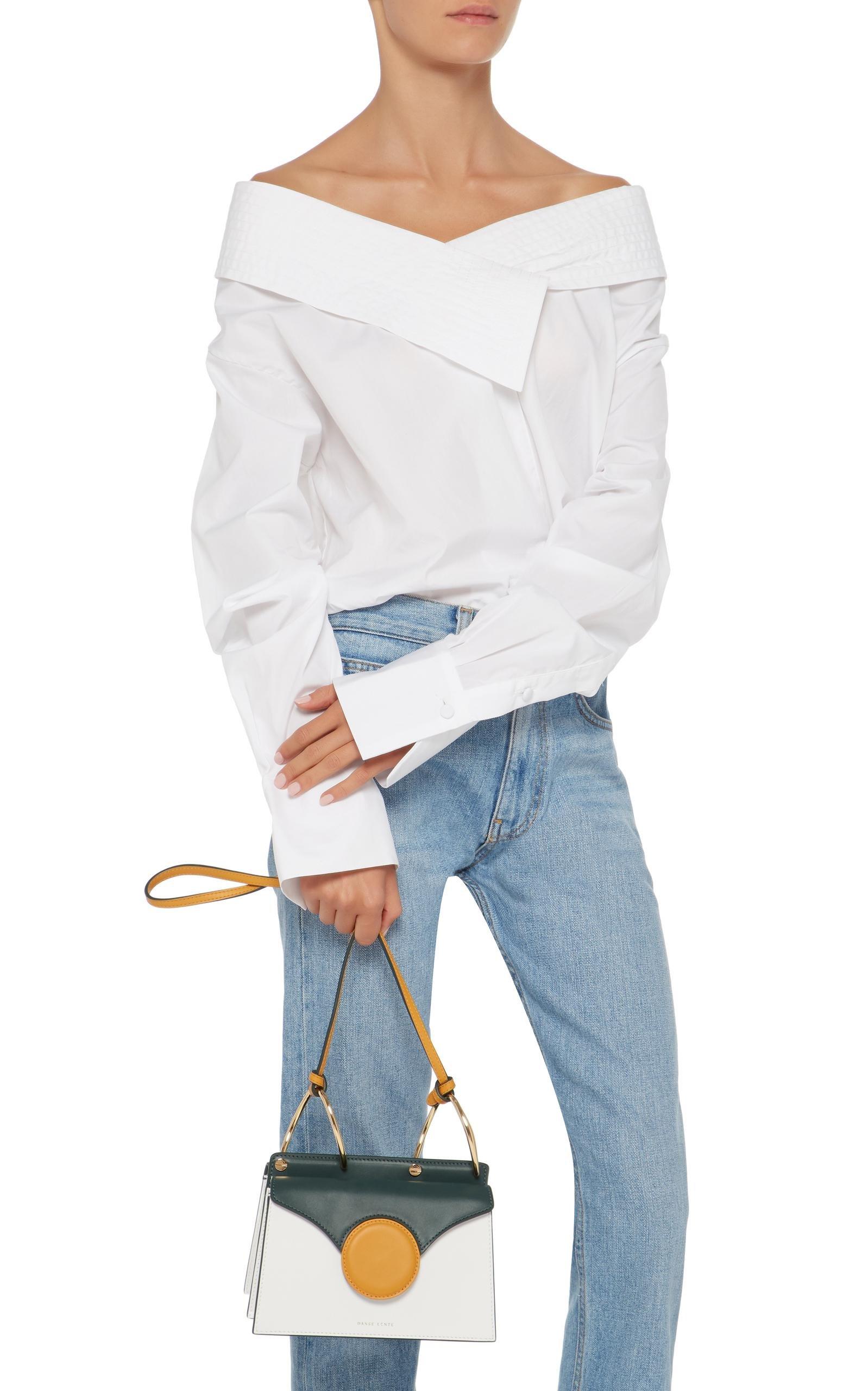 Danse Lente Leather Mini Phoebe Crossbody in White