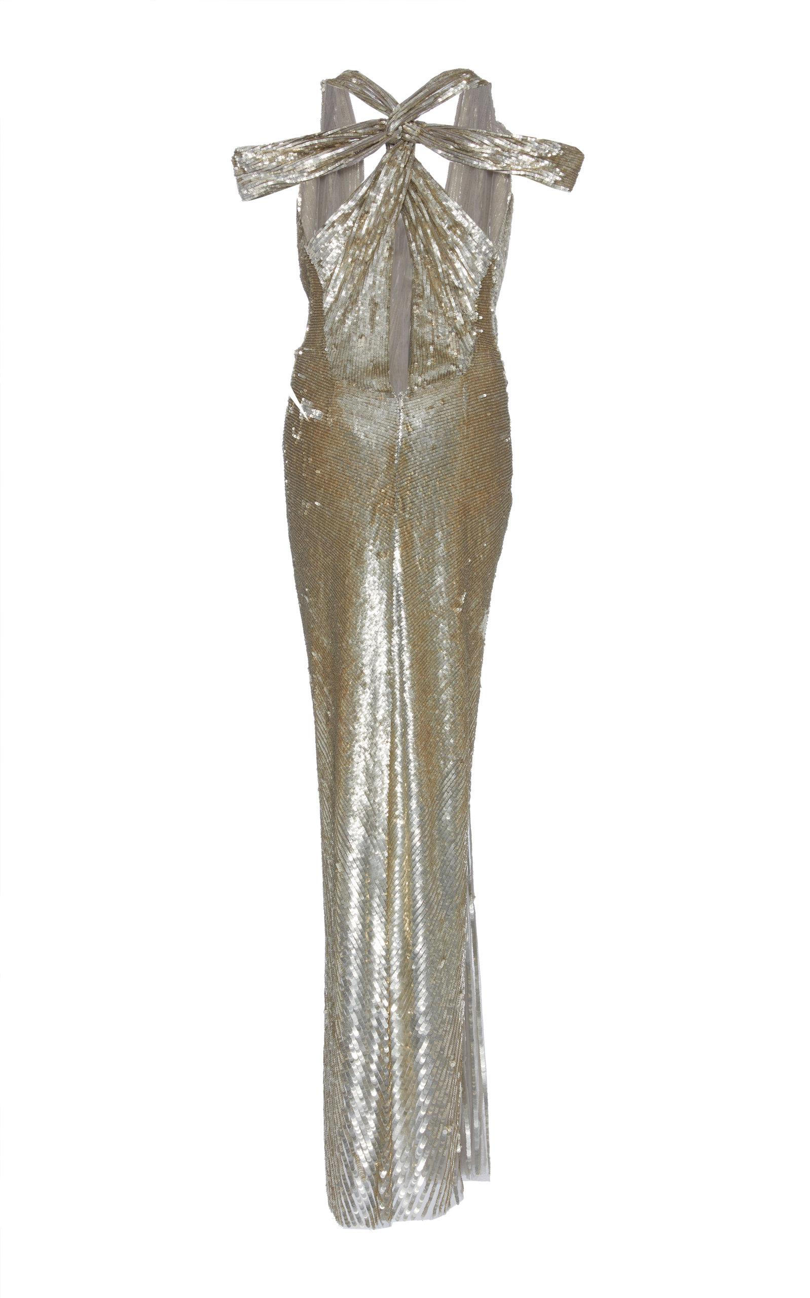 Lyst - Jenny Packham Alula Sequin Gown in Metallic