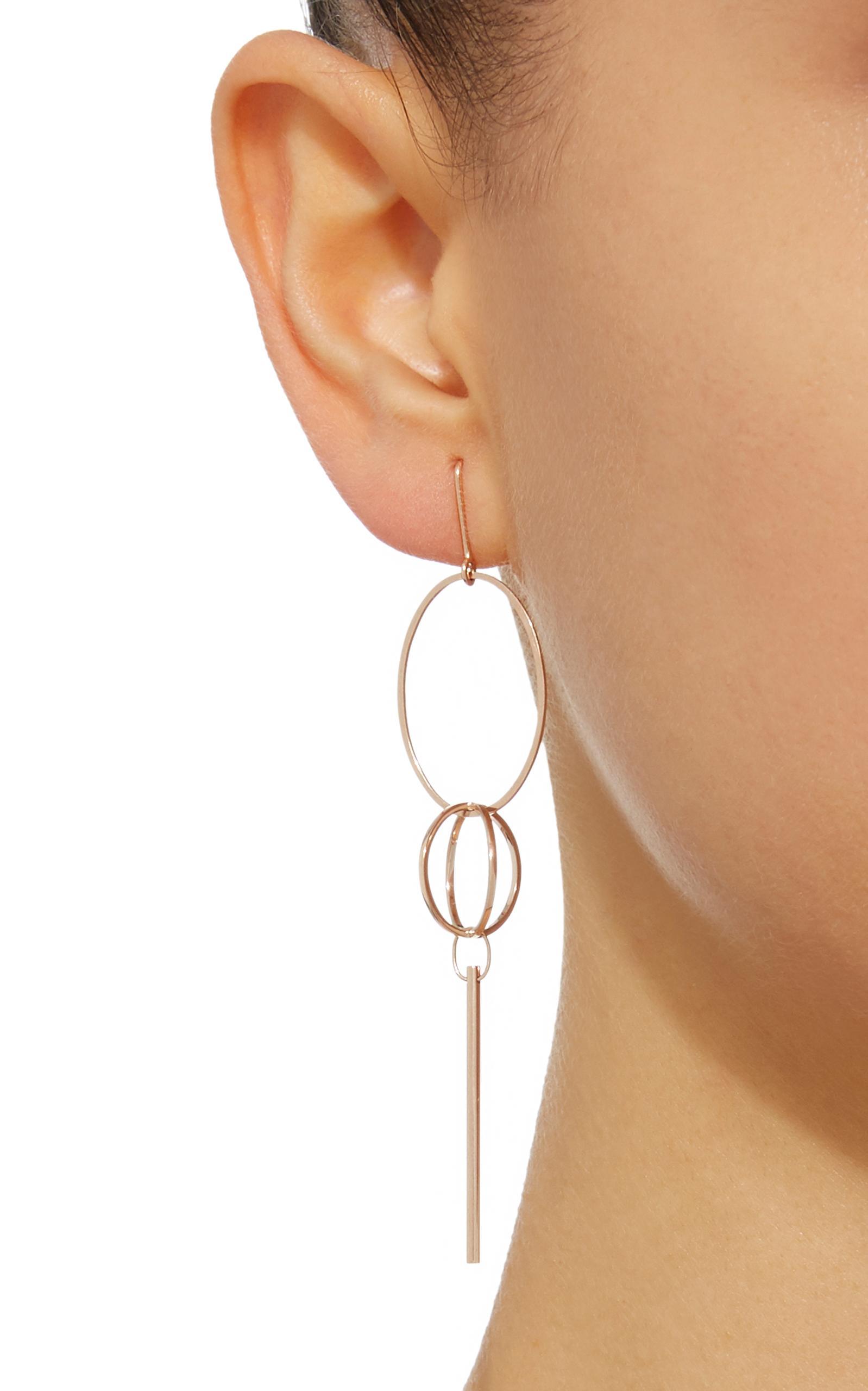 Vanrycke Coachella 18k Rose Gold Single Earring in Pink