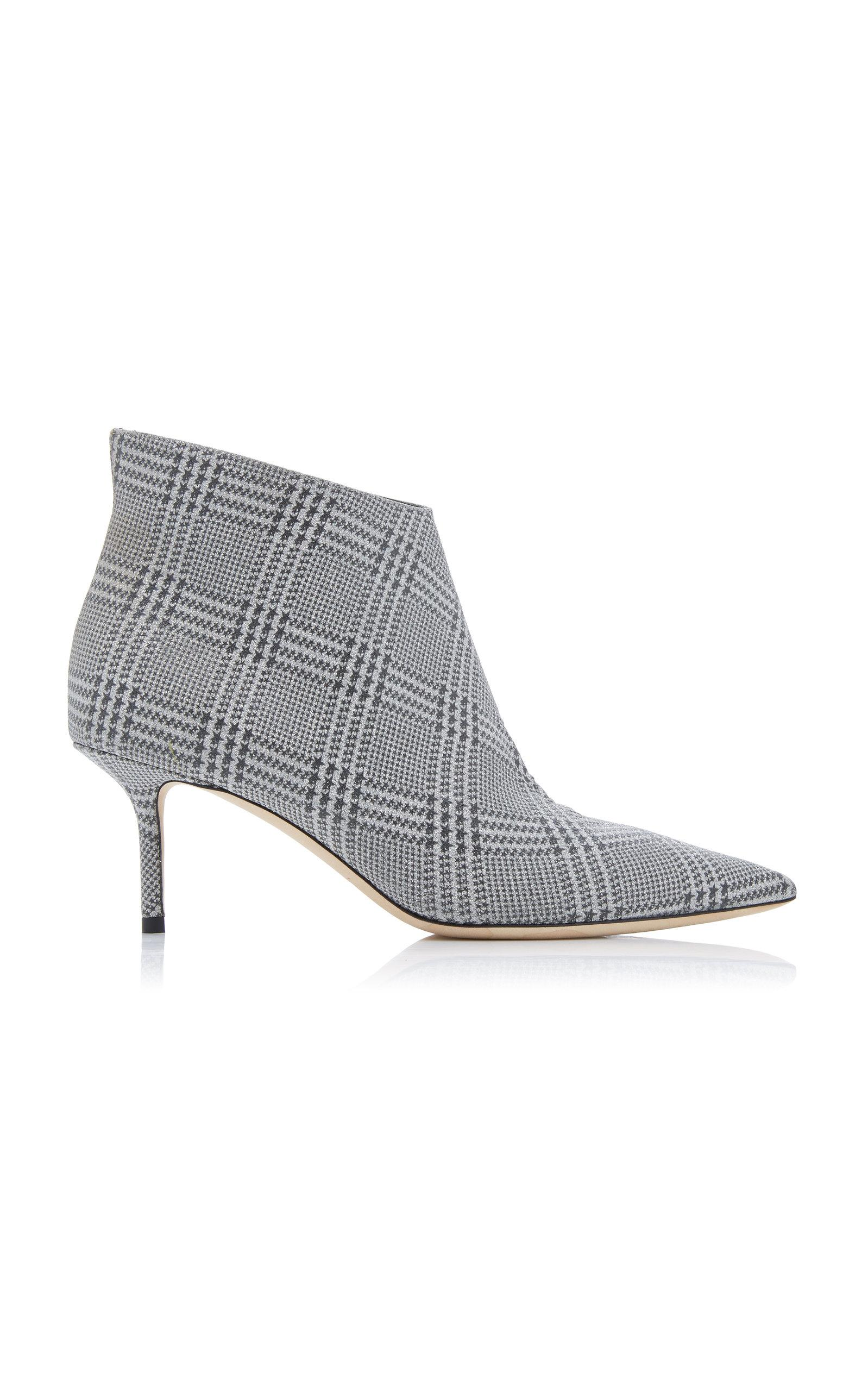 4806e81289ca Lyst - Jimmy Choo Marinda Glittered Plaid Leather Ankle Boots in ...