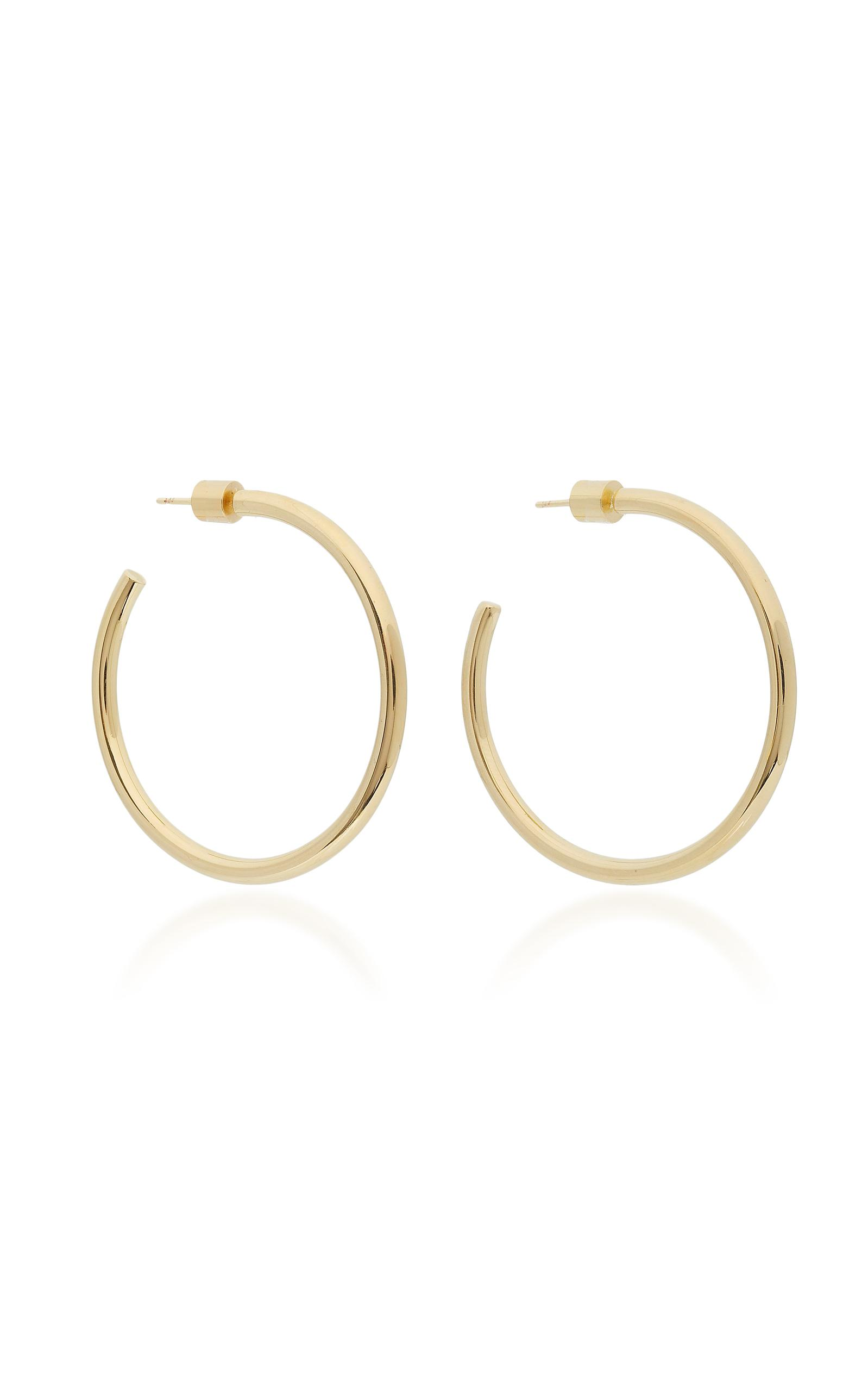Baby Lilly Silver-plated Hoop Earrings - one size Jennifer Fisher mrO43A