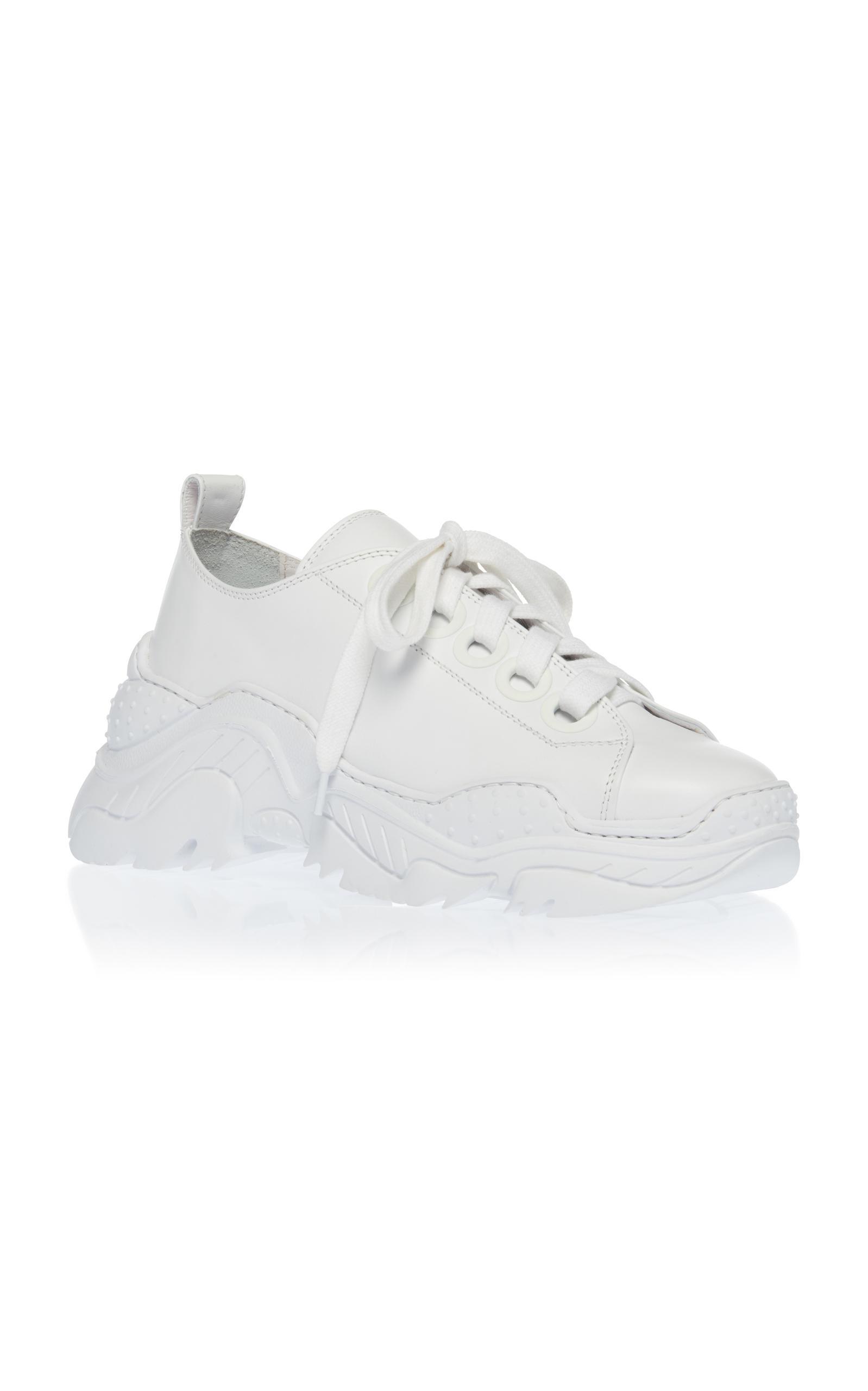 N°21 Satin Sneaker in White