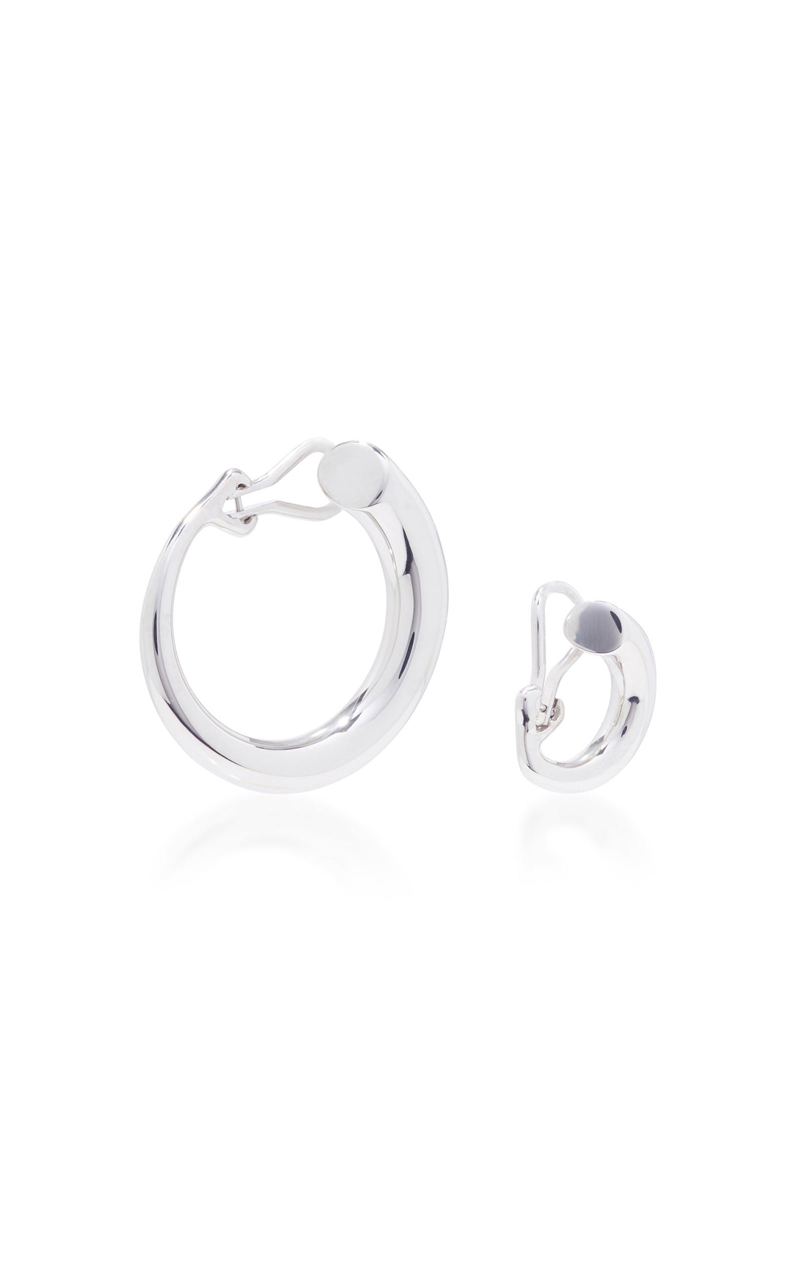 12d393432 Charlotte Chesnais Monie Small And Large Silver Clip Earrings in ...