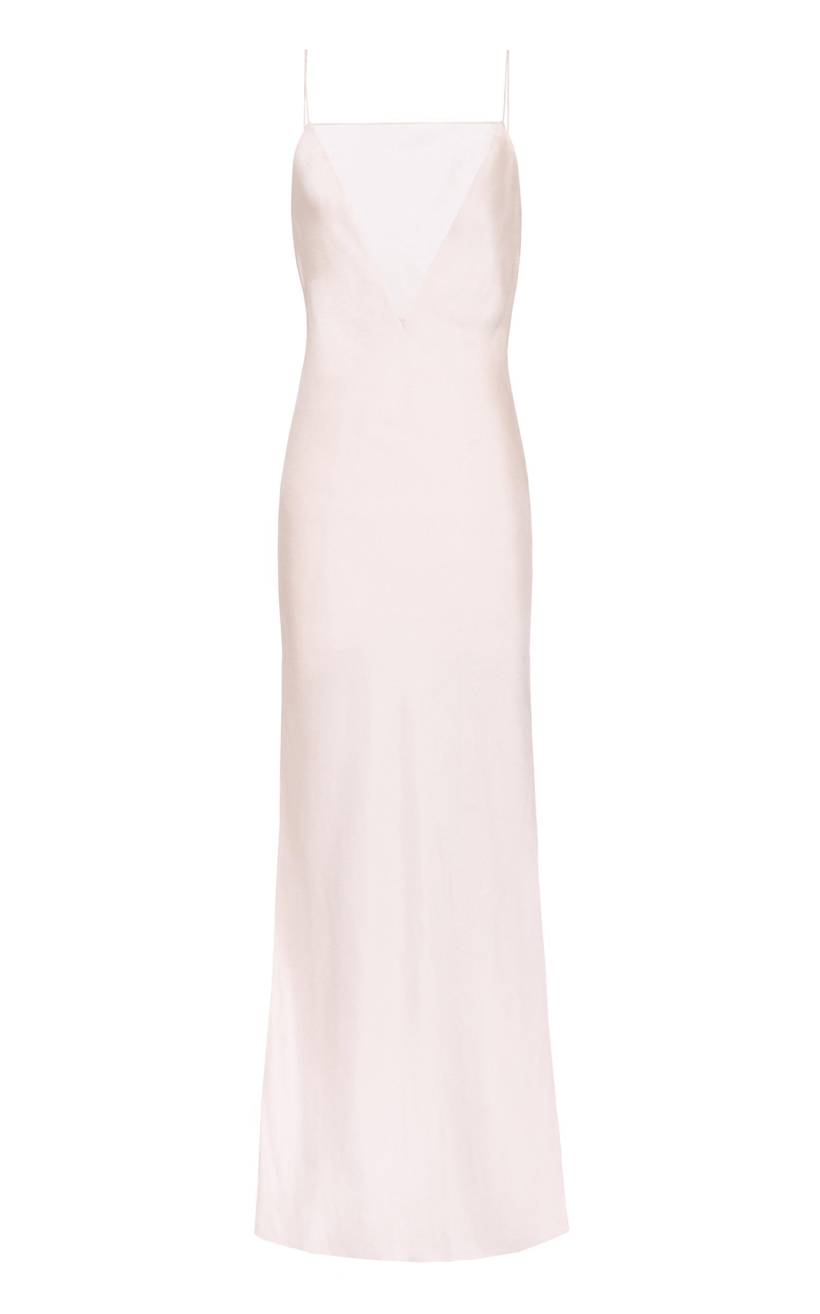 66f14f25839 Lyst - Marina Moscone Gia Slip Dress in Pink