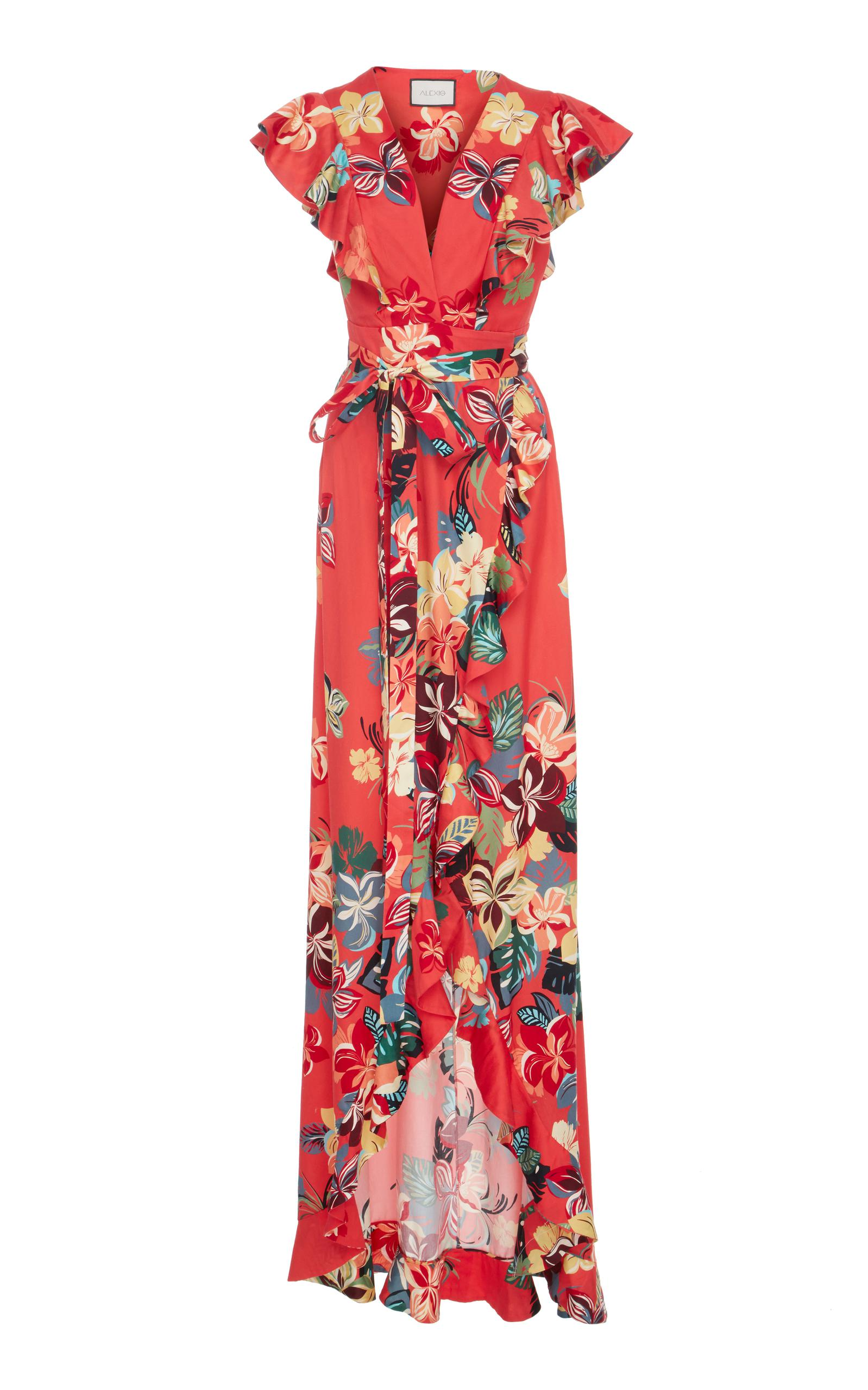 Lyst Alexis Janna Floral Print Dress In Red