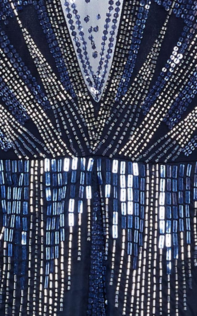 temperley london mineral long dress in blue lyst. Black Bedroom Furniture Sets. Home Design Ideas