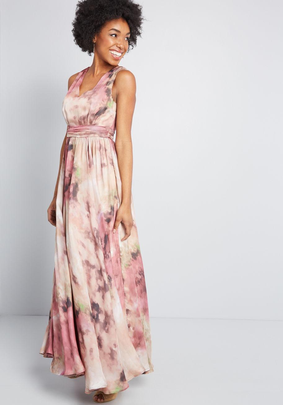 5e1e1ec678e ModCloth Artfully Introduced Maxi Dress in Pink - Lyst