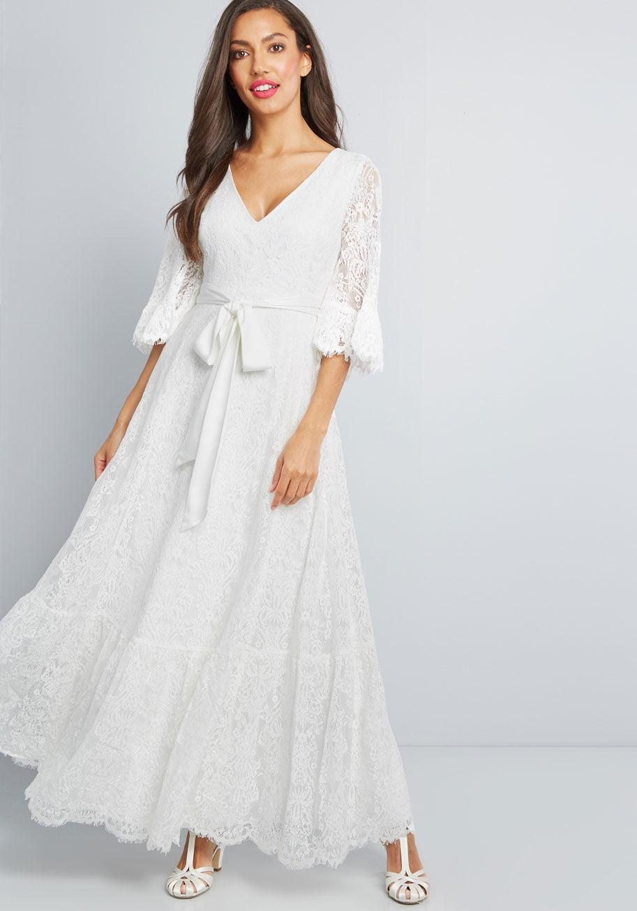e544dbb96a2 Lyst - ModCloth Through The Bluebells Lace Maxi Dress in White