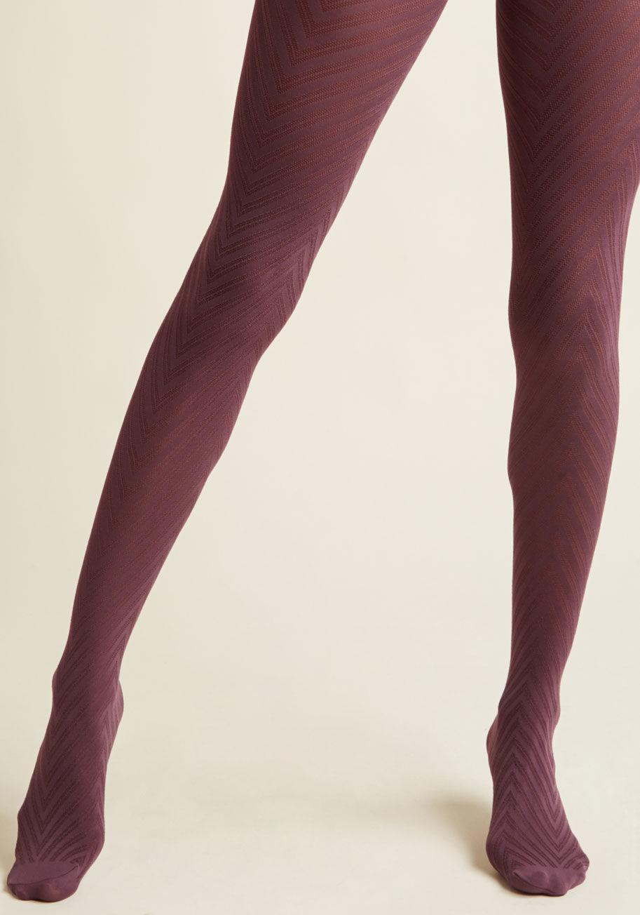 17ea936db Lyst - Modcloth Fashionably Emulate Tights In Plum