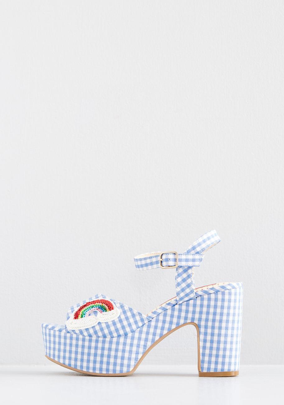 26b903eb505 Lyst - Bait Footwear Your Own Rainbow Platform Heel in Blue