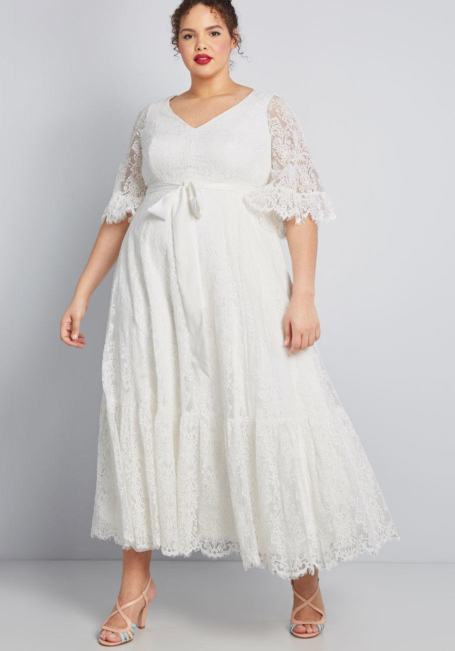 81ab5c147b84a ModCloth - White Through The Bluebells Lace Maxi Dress - Lyst. View  fullscreen