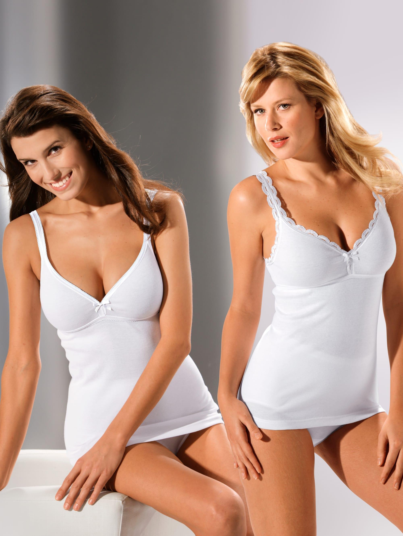 HERMKO Bh-hemdjes Wit in het Wit voor heren