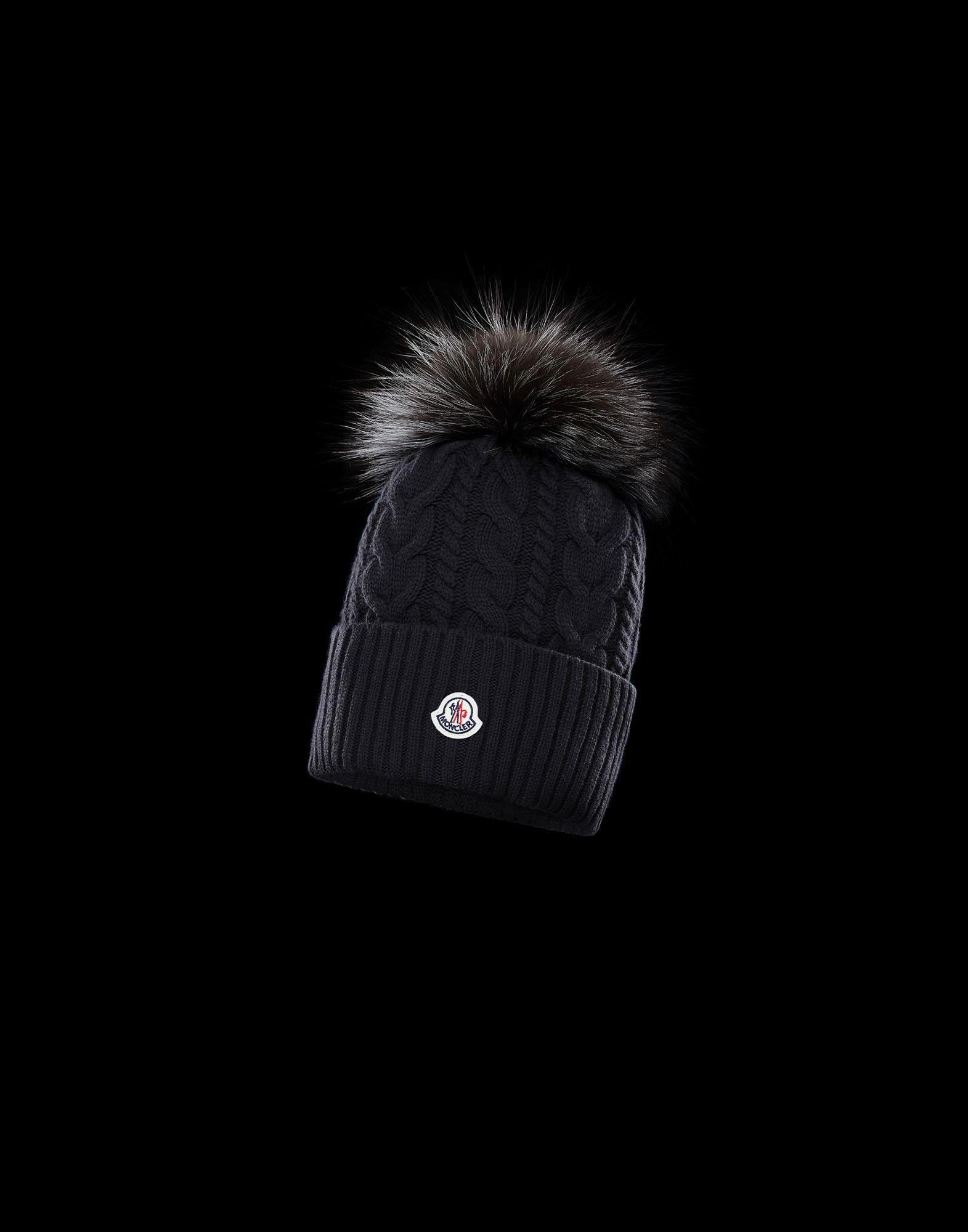 655997eaef1b Moncler Hat in Black - Lyst