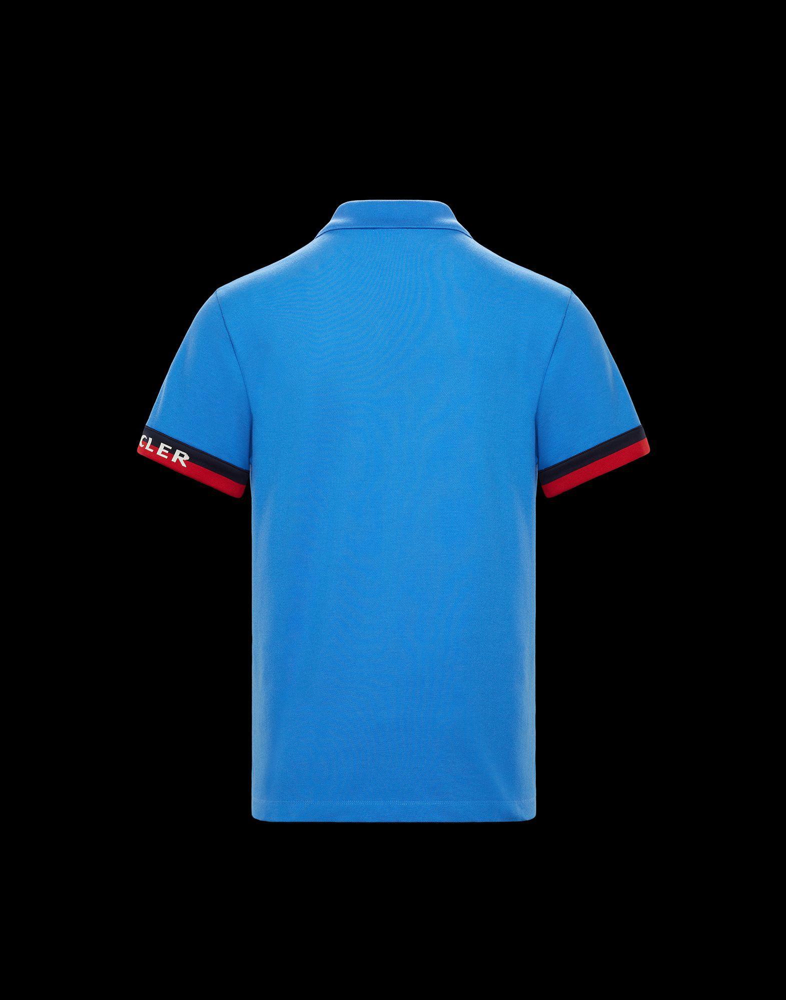 795149770067d Moncler - Blue Polo for Men - Lyst. View fullscreen