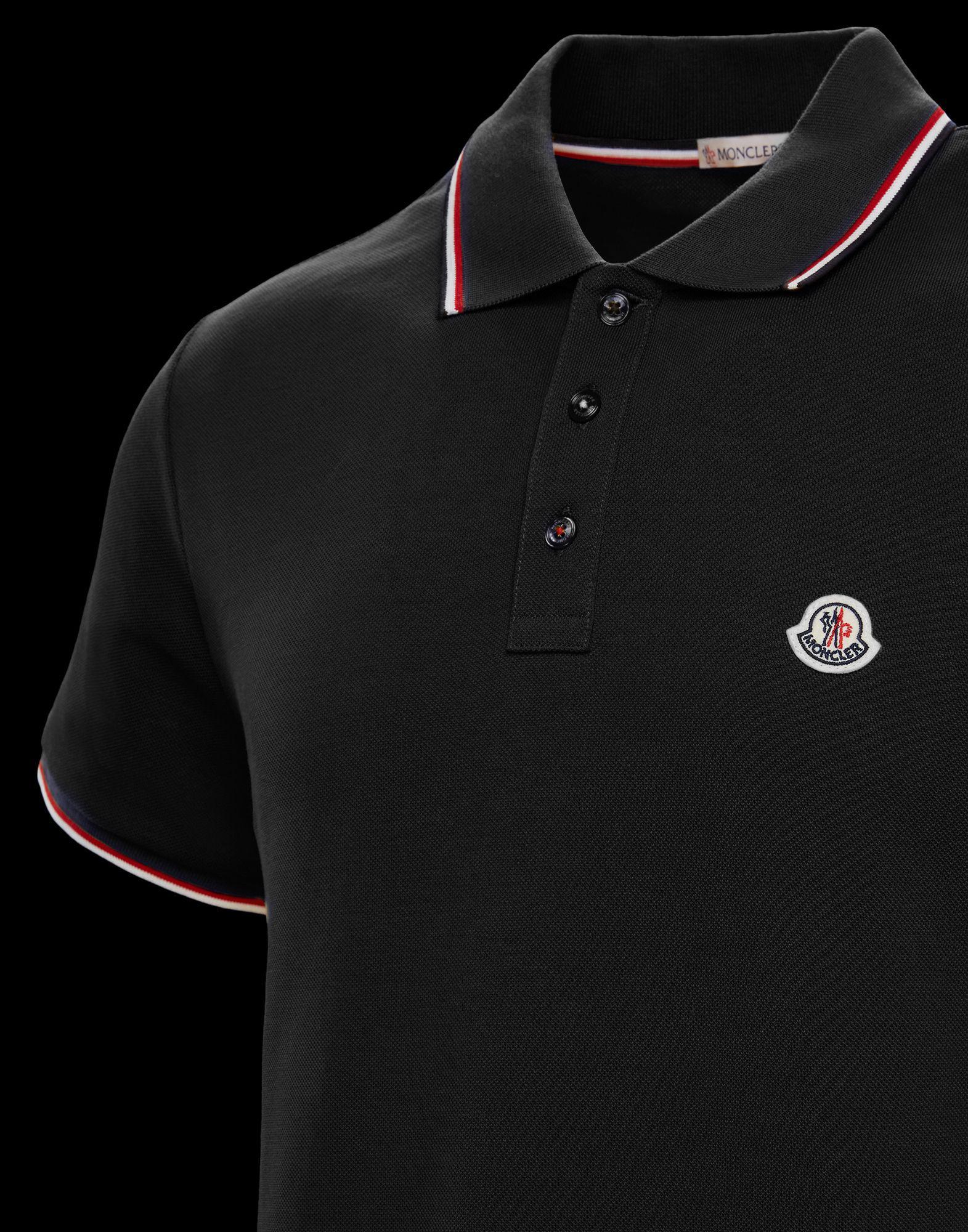 4e2b80b59 Lyst - Moncler Polo Shirt in Black for Men