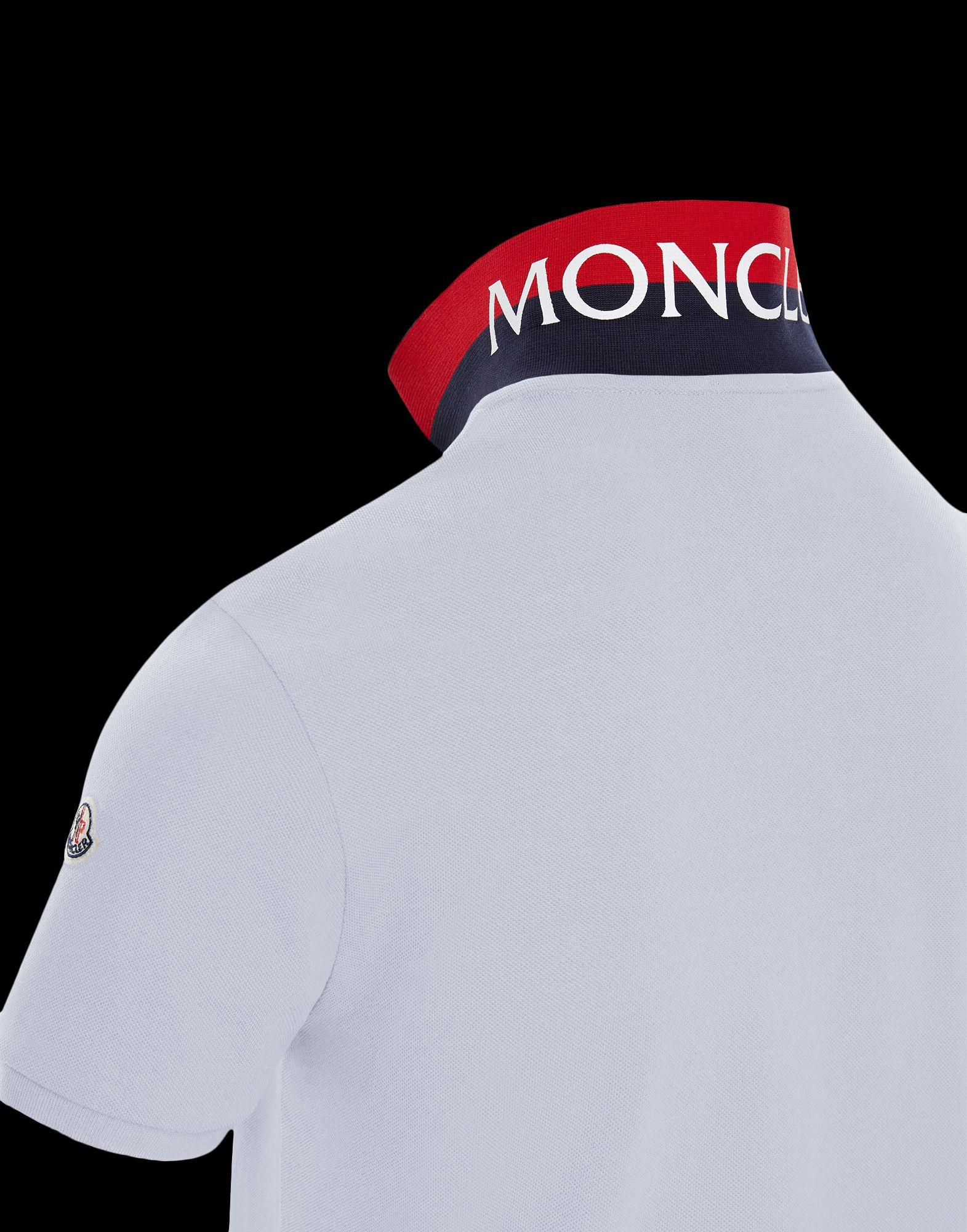 0d526e24263a3 Lyst - Moncler Polo in White for Men