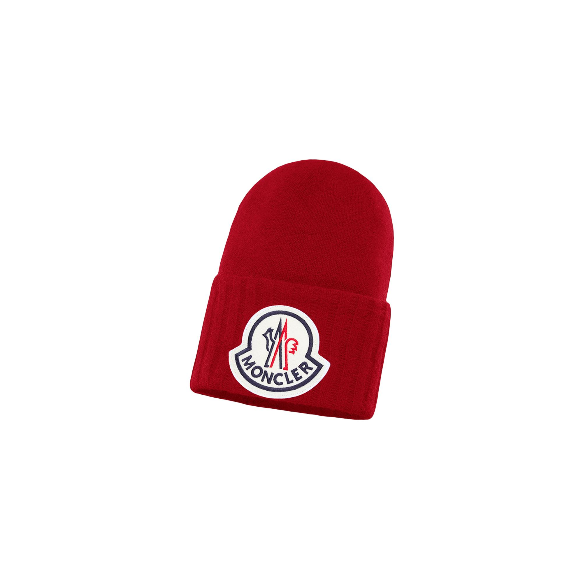 Moncler Wool Hat in Red for Men - Lyst