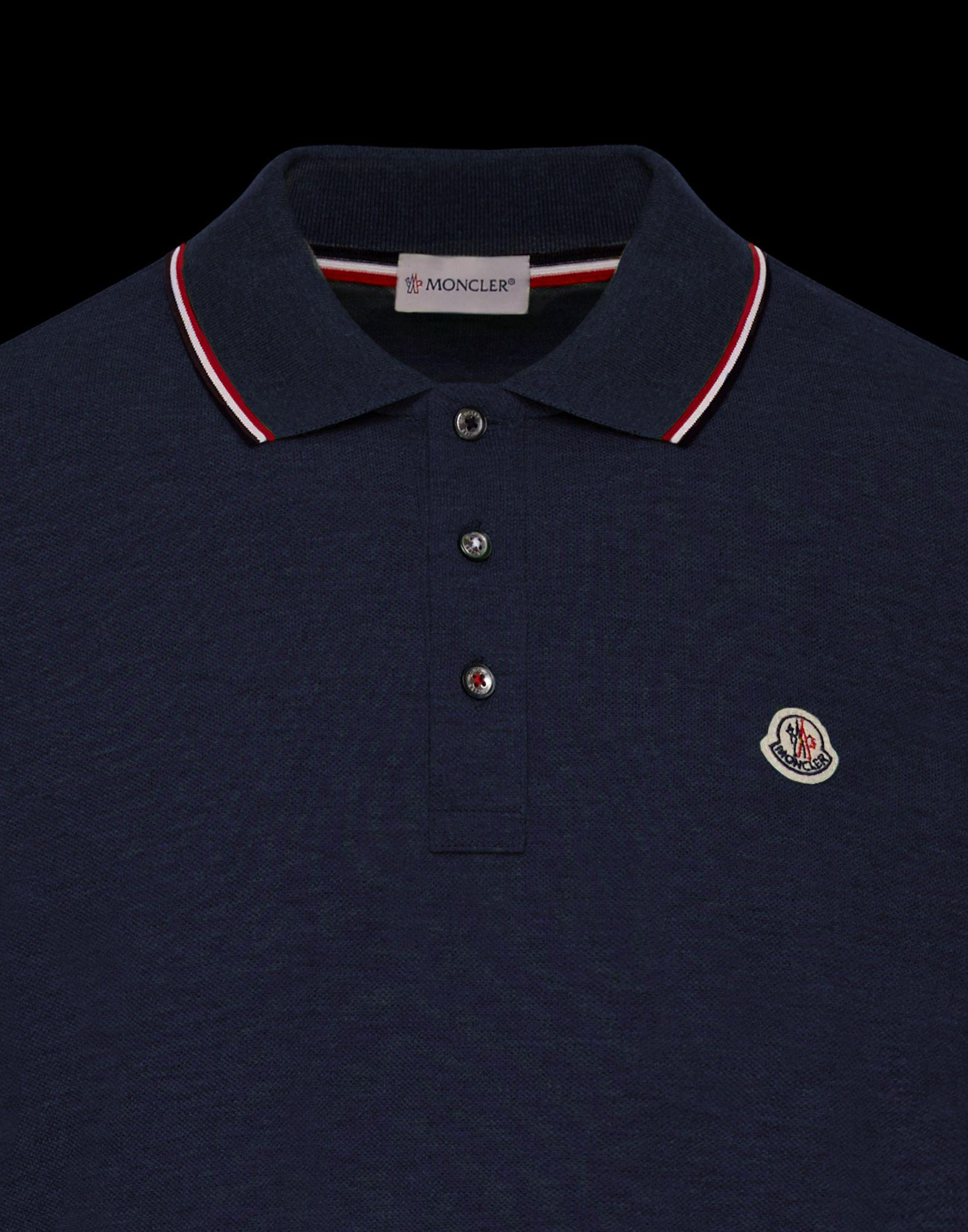0e6ef938b608 Moncler Polo Shirt in Blue for Men - Lyst