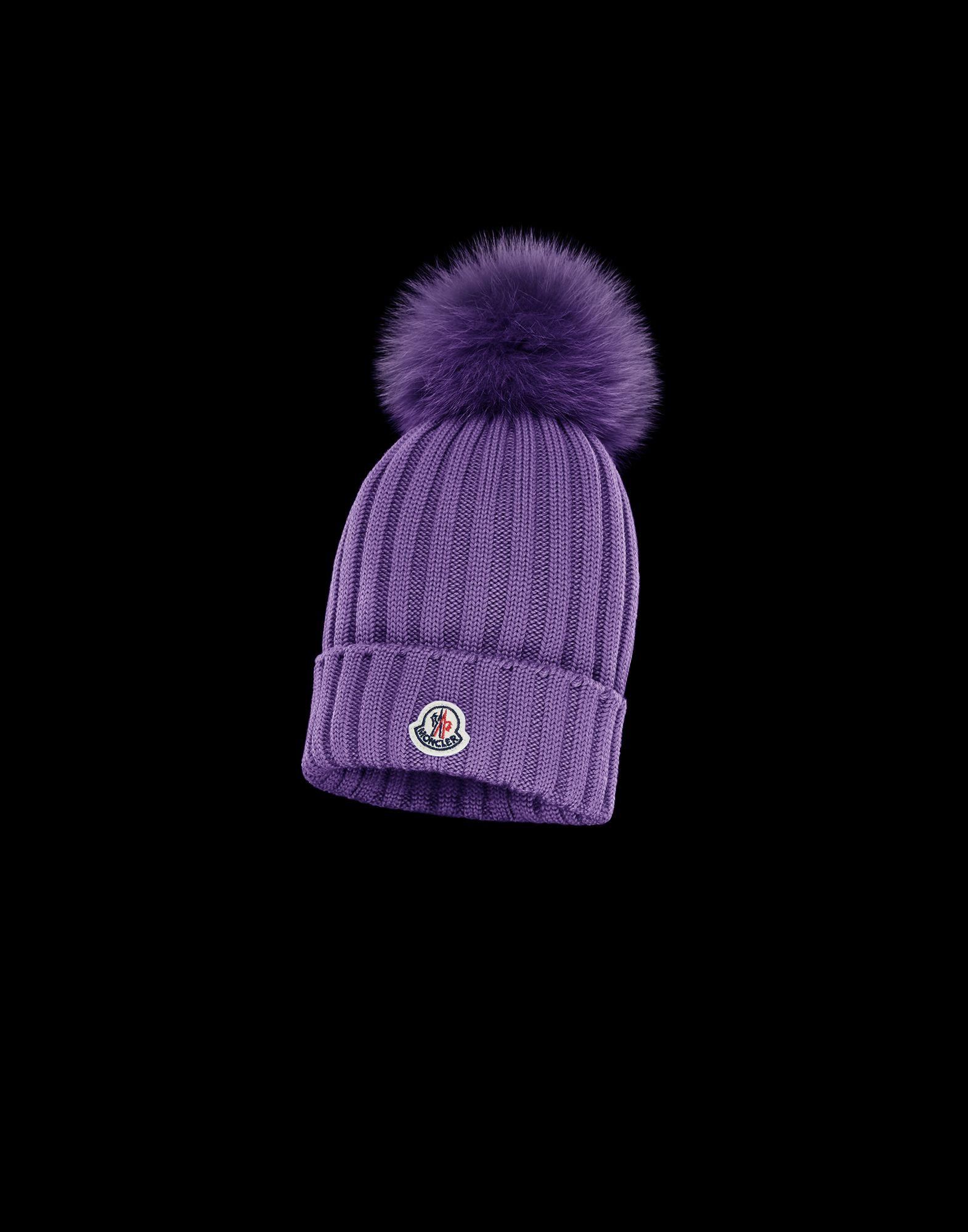 42f3b6866ec Lyst - Moncler Hat in Purple