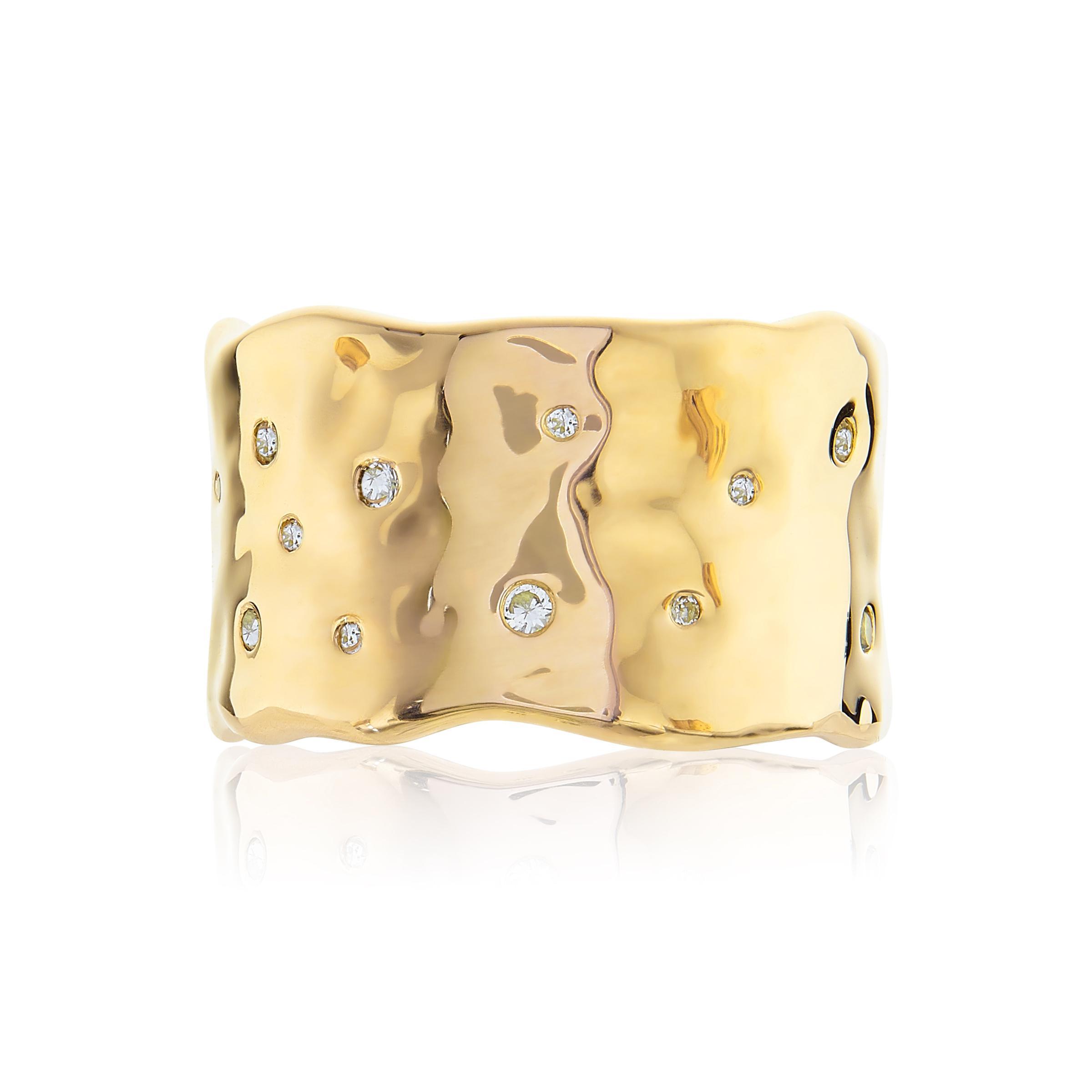 Monica Vinader Siren Scatter Ring in Gold (Metallic)