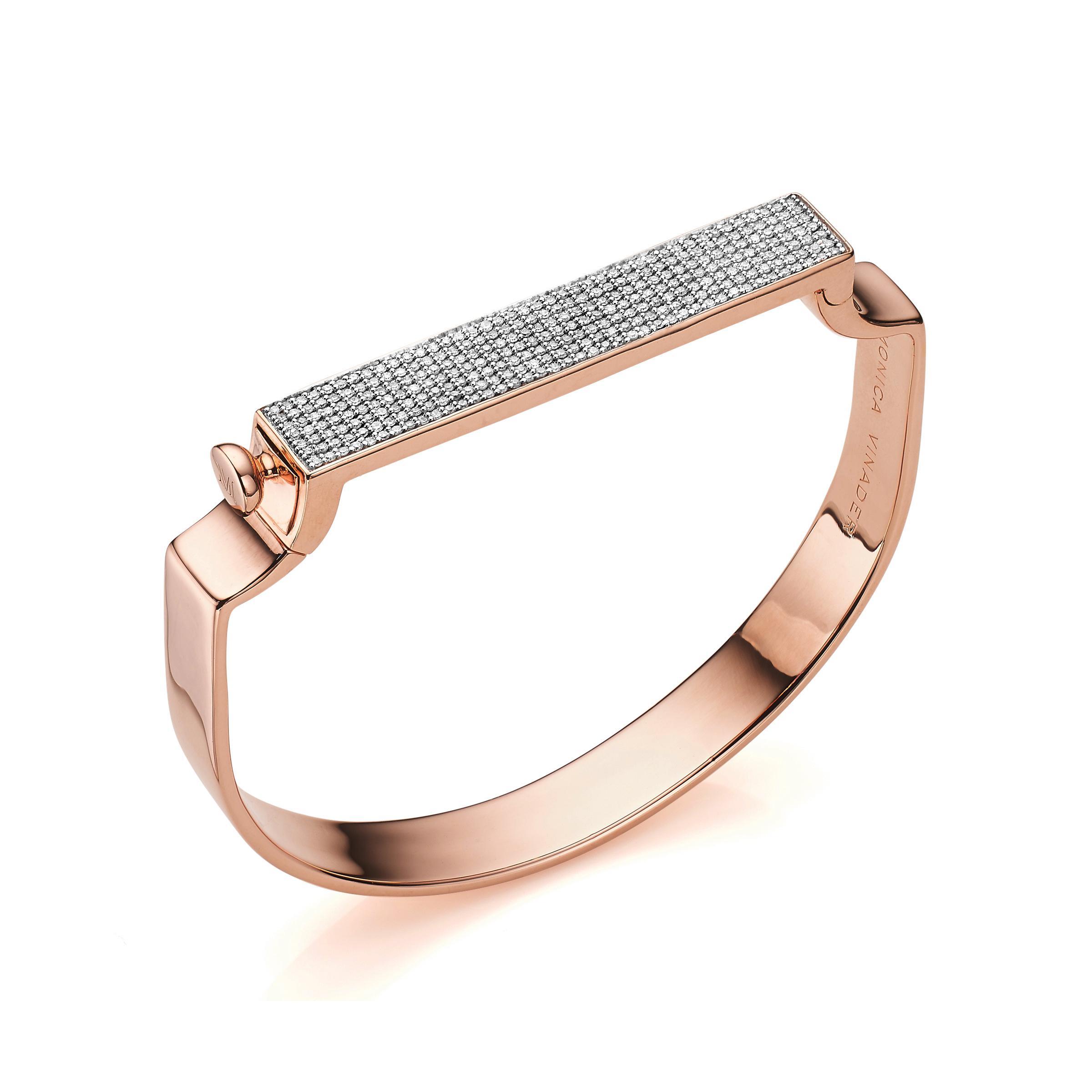 Signature Argent Sterling Diamant Bracelet Diamant Monica Vinader eyOX3TM