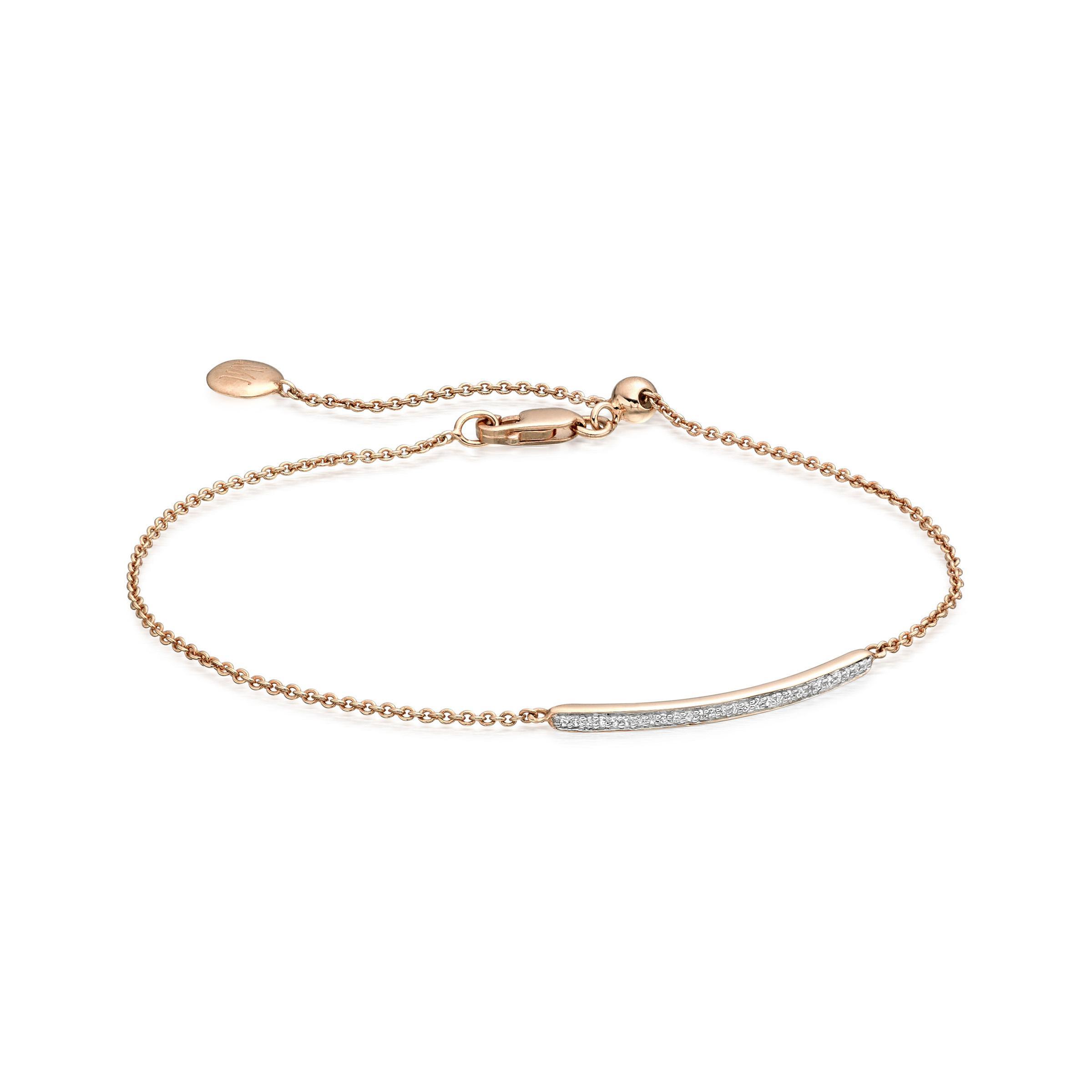 Fiji Diamond Bar Bracelet, Gold Vermeil on Silver Monica Vinader