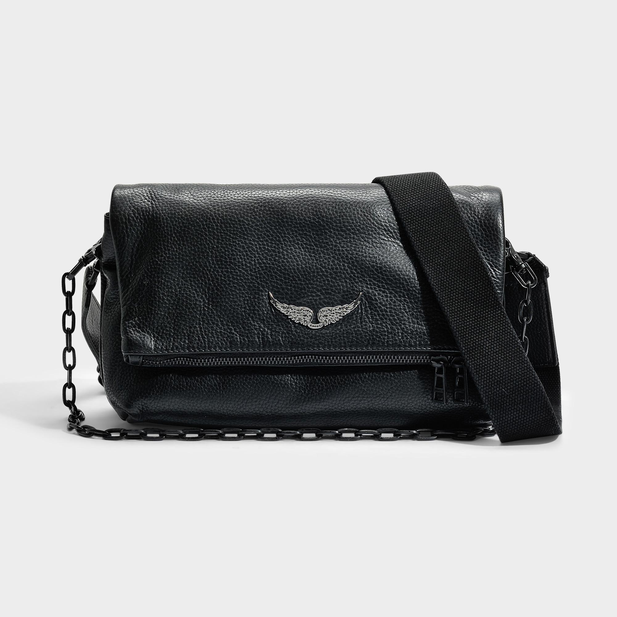 f7186152bb Black In amp; Save Leather Cow Bag Zadig Voltaire Rocky x7XITxFq