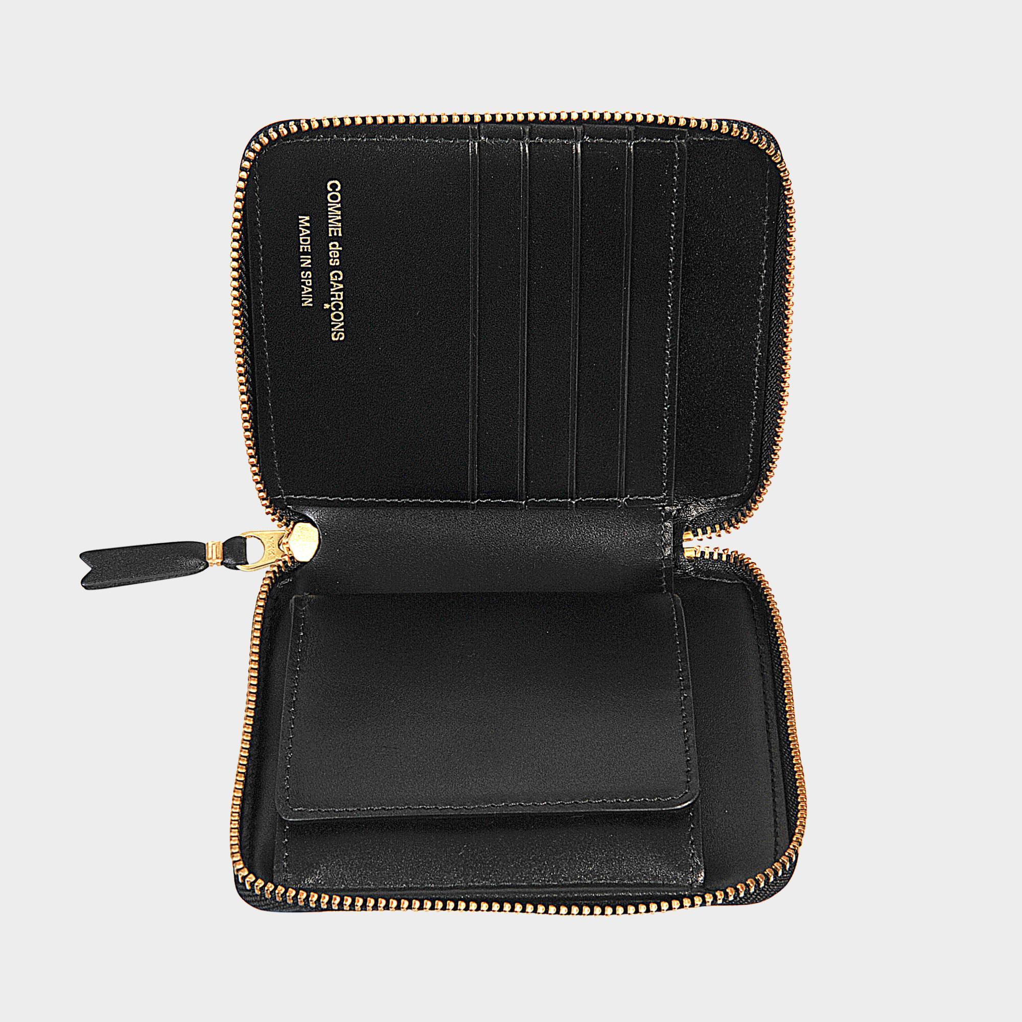 Comme Des Garçons Portefeuille carré zippé Embossed Leather Line isgYFiaPpr