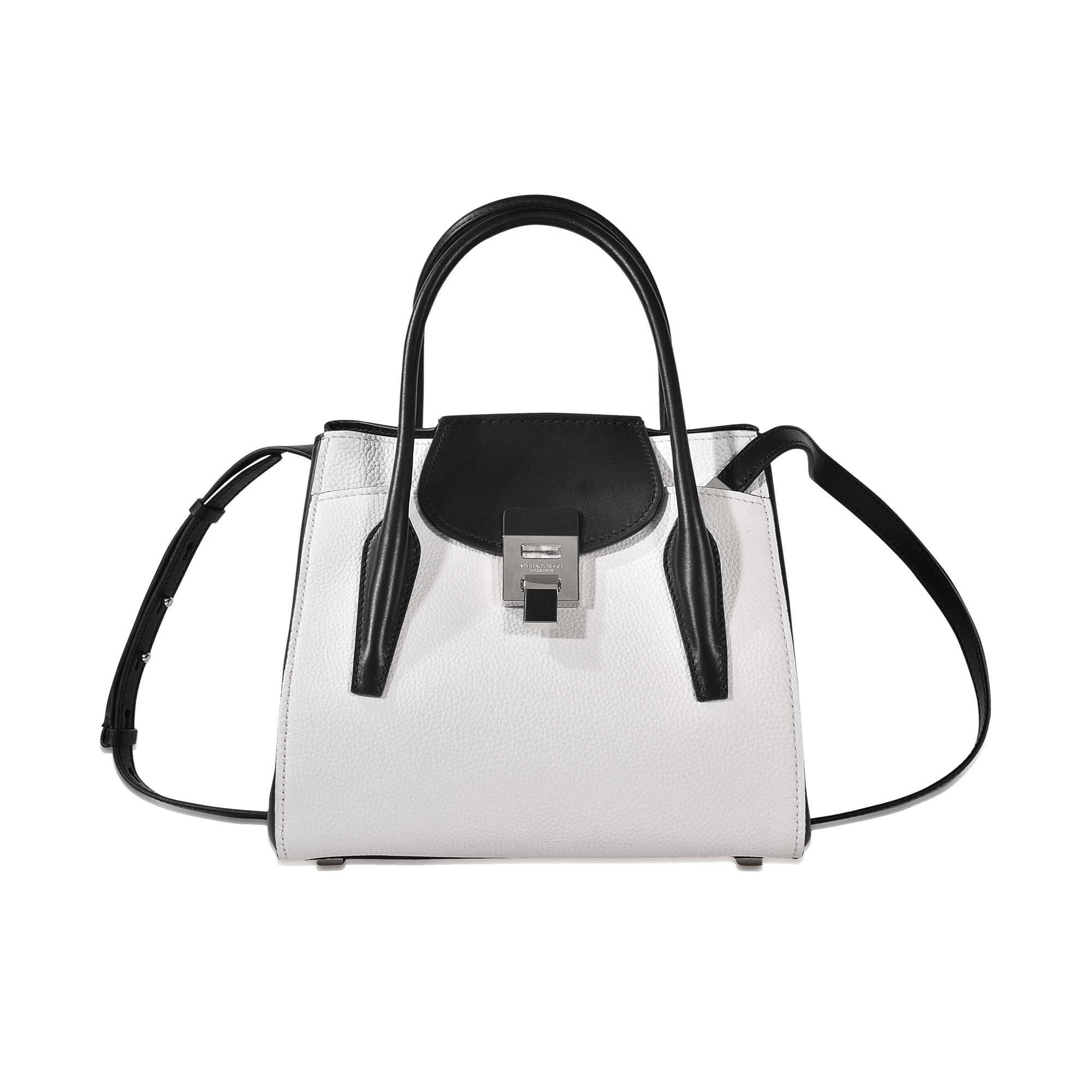 cb33bcc93414ab Michael Kors Bancroft Md Tote in White - Lyst