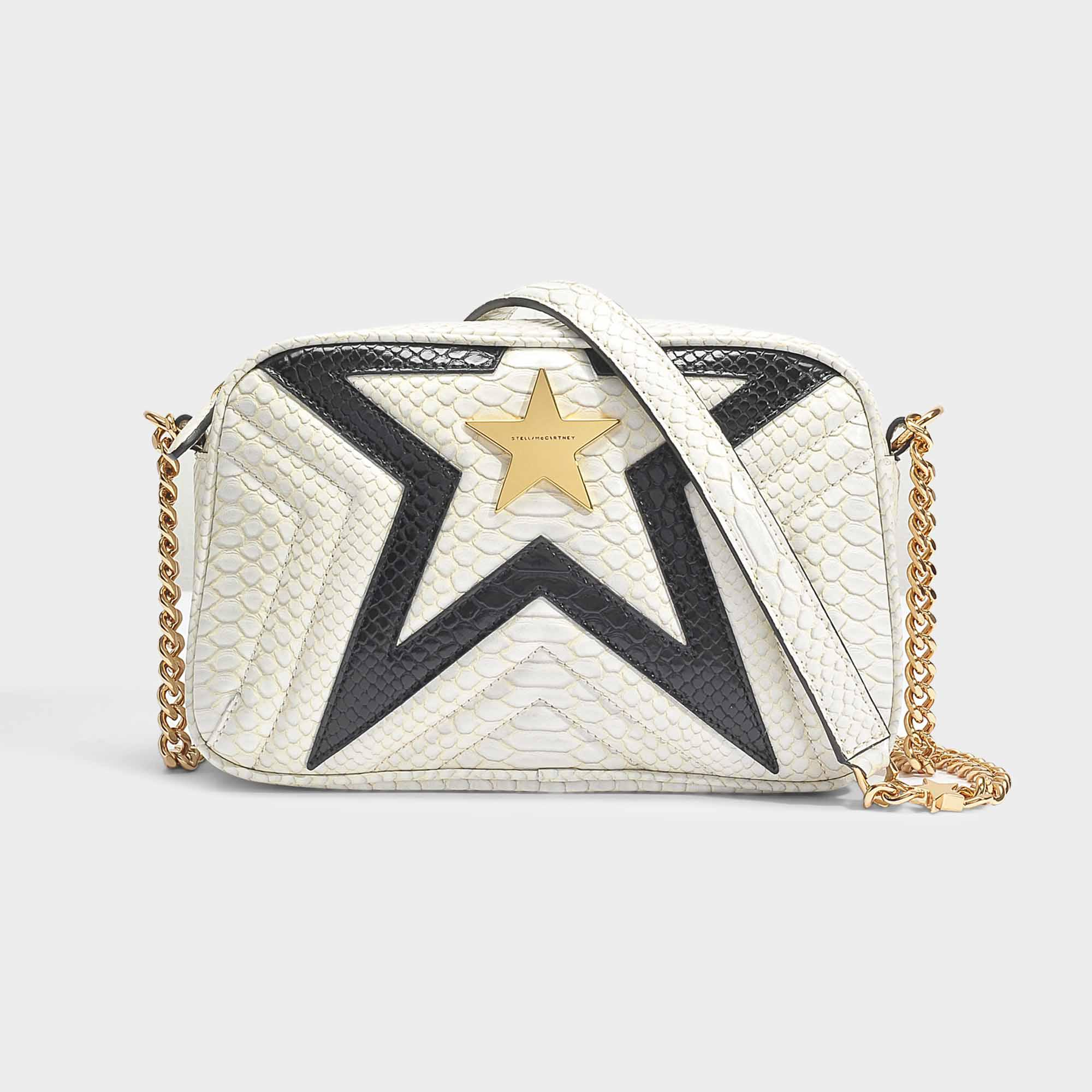 74d0630b85 Lyst - Stella McCartney Two-tone Alter Python Small Stella Star ...