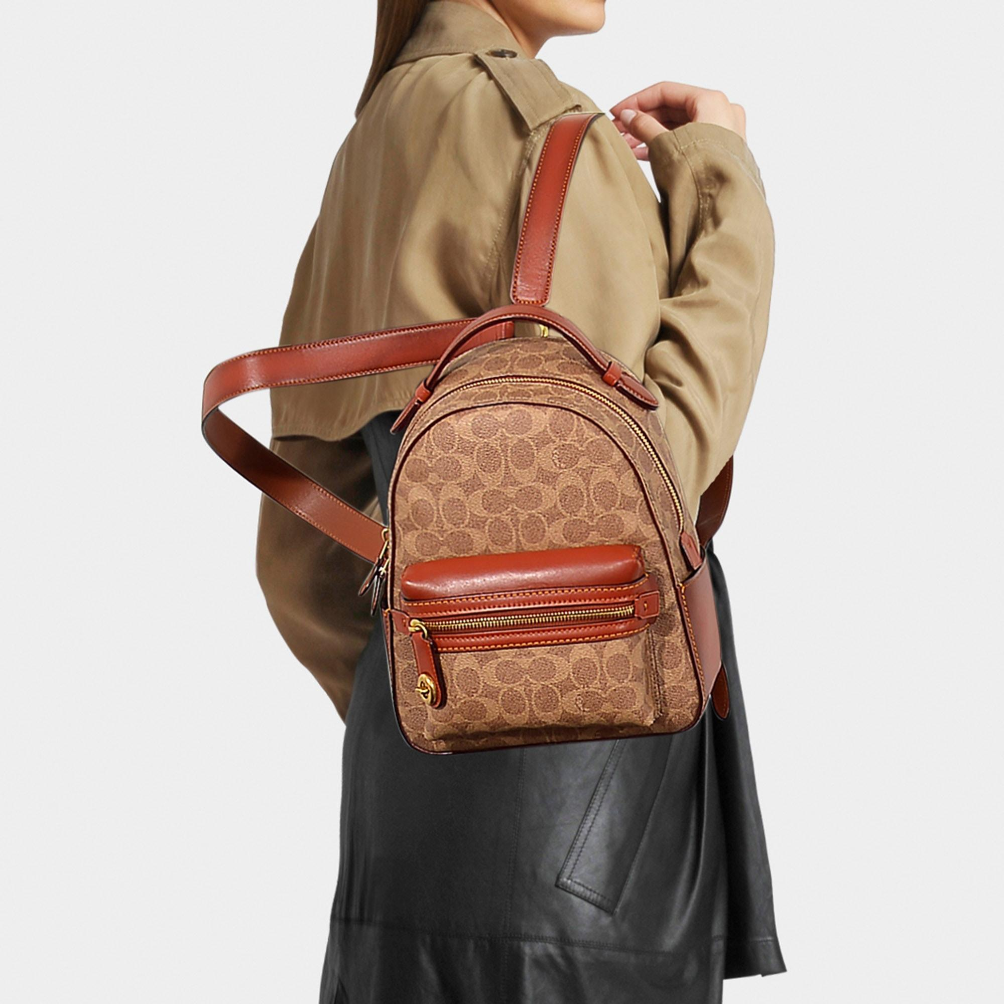 Campus Backpack 23 In Brown Signature Coated Canvas