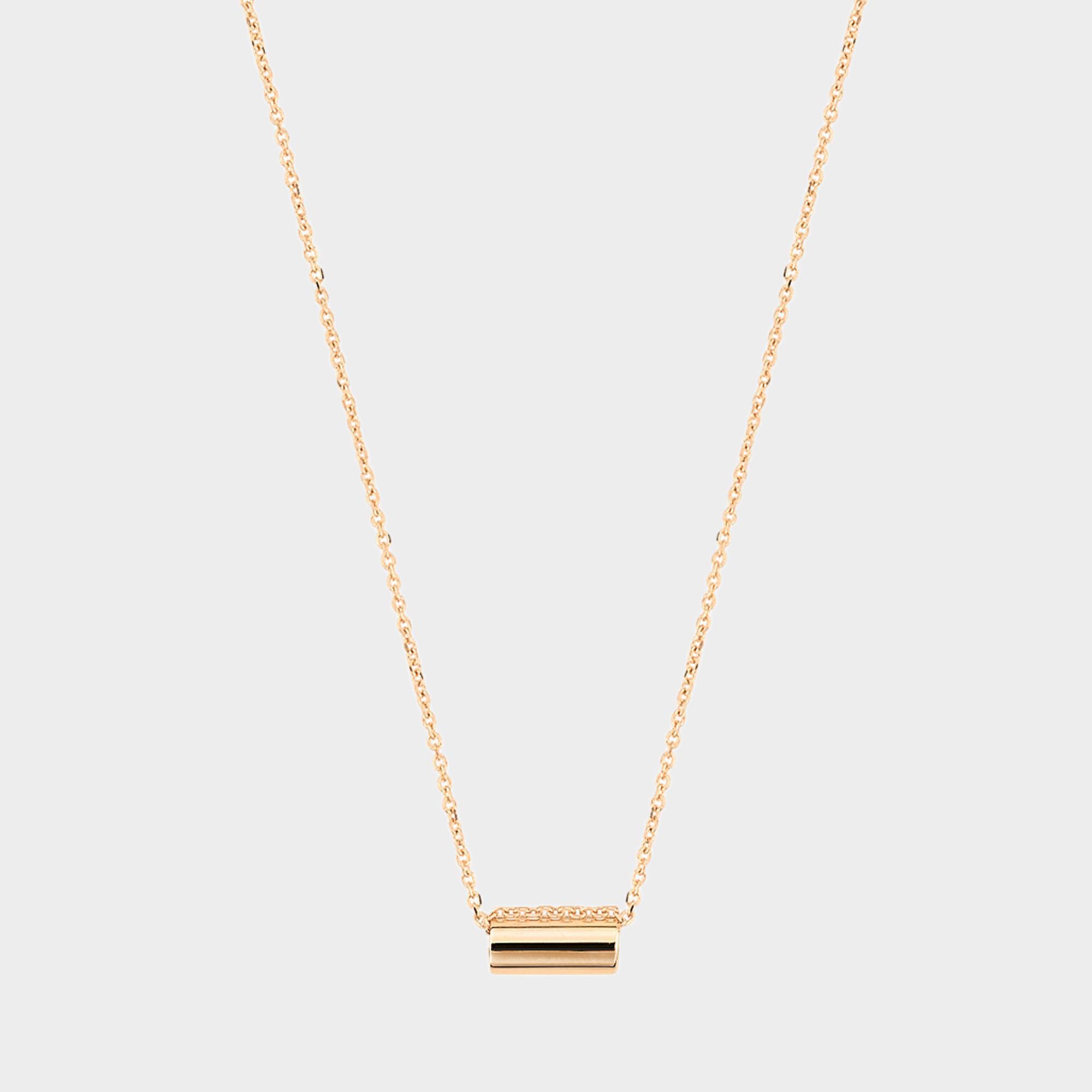 Ginette NY Mini Straw Diamond 18-karat rose gold necklace GmLPvliLDA