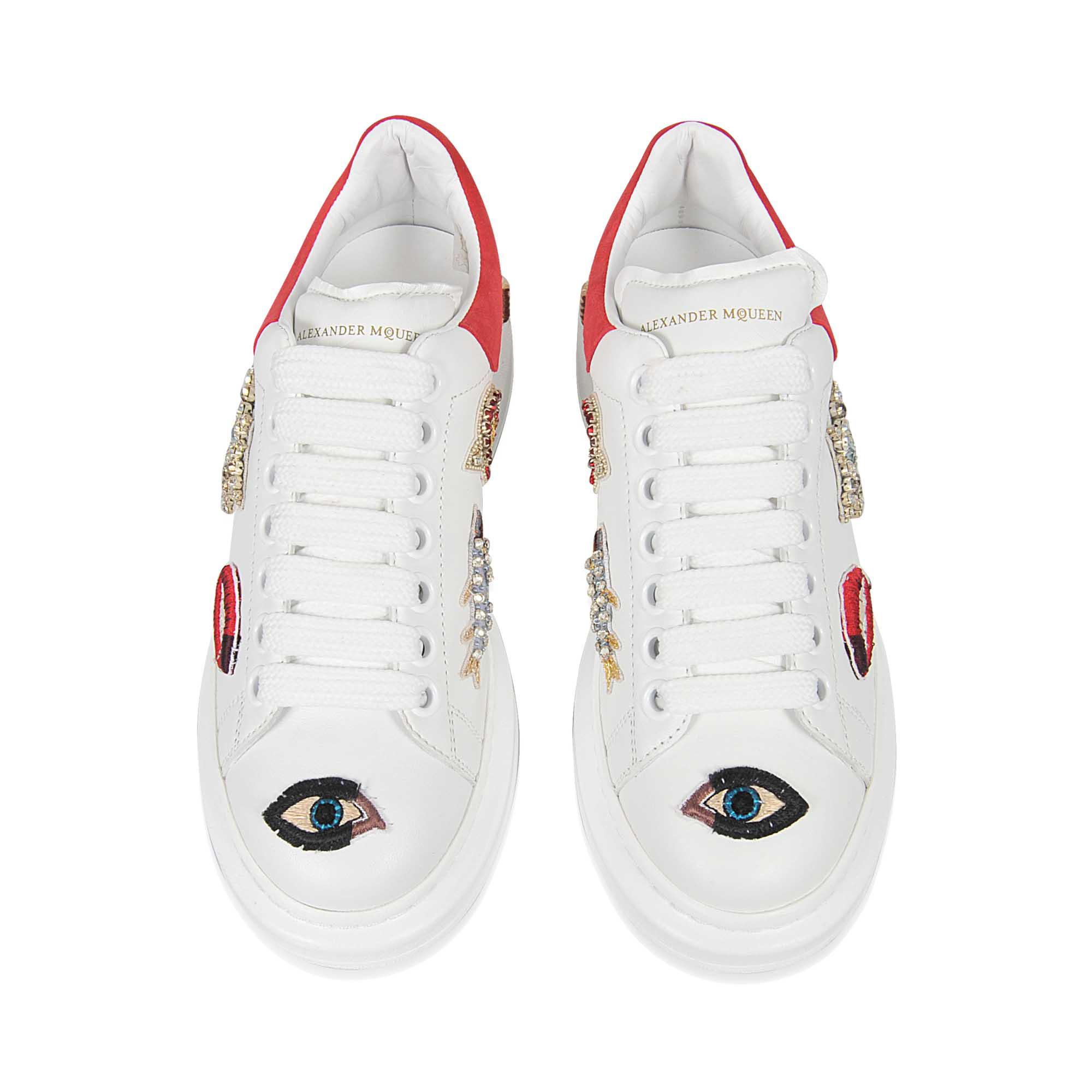 Alexander McQueen Charm's Embroidered Sneakers