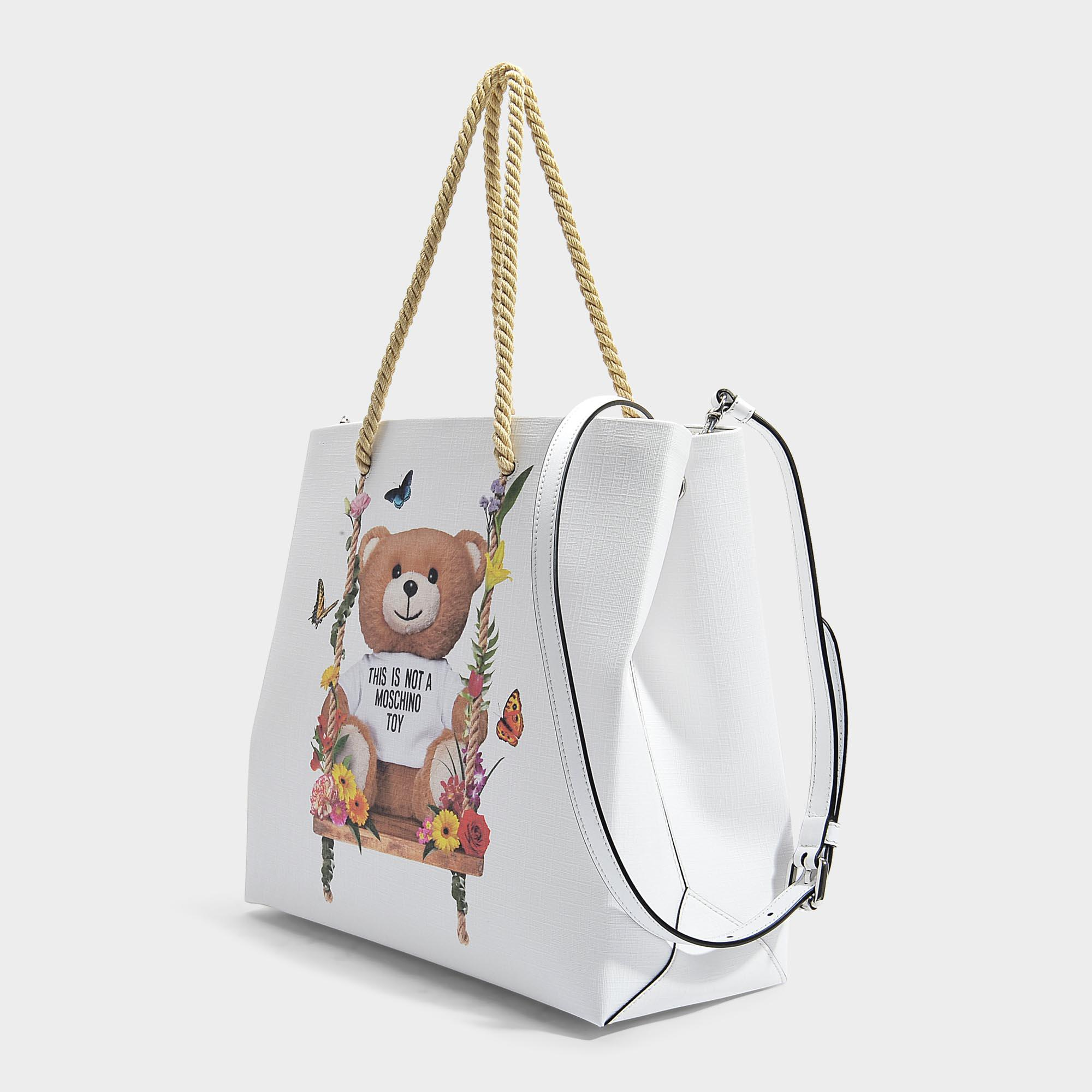 Teddy Shoulder Bag in Pink Calfskin Moschino R9EIeh