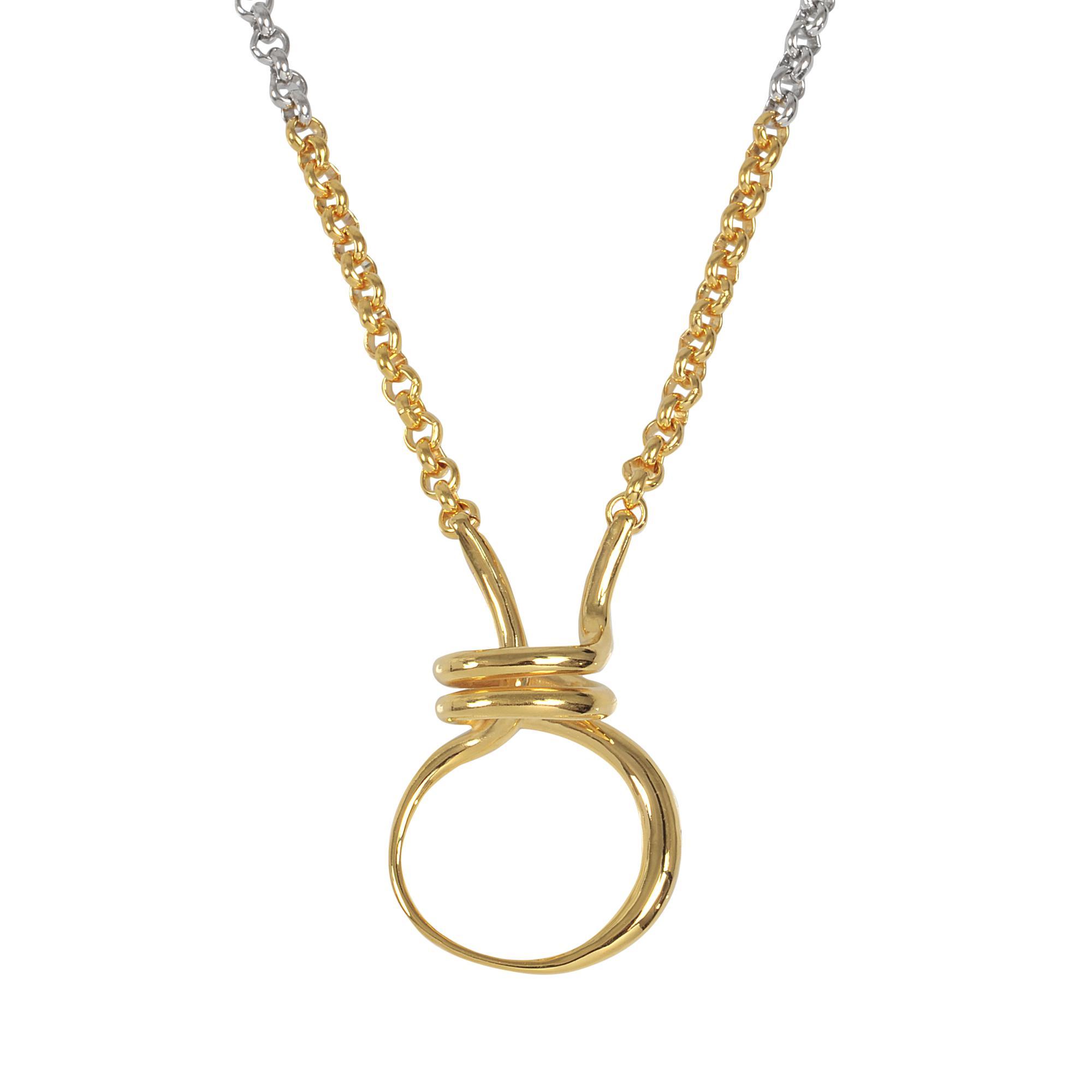 Charlotte Chesnais Round Trip necklace - Metallic ydHE2cr