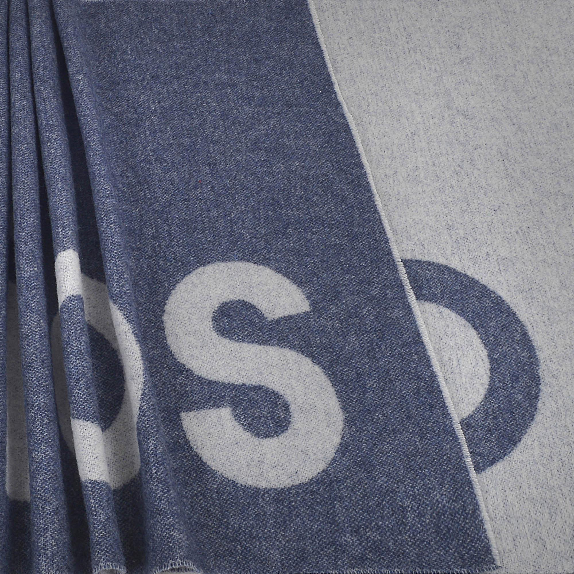 220X50 Toronto Logo Scarf in Blue Wool Acne Studios